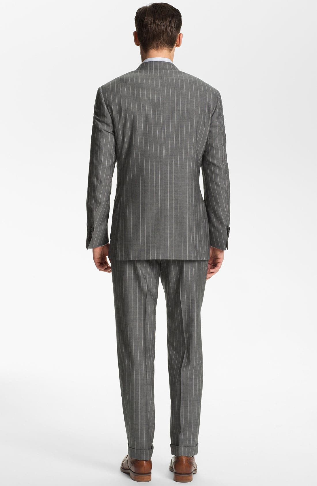 Alternate Image 3  - Canali Double Breasted Stripe Suit