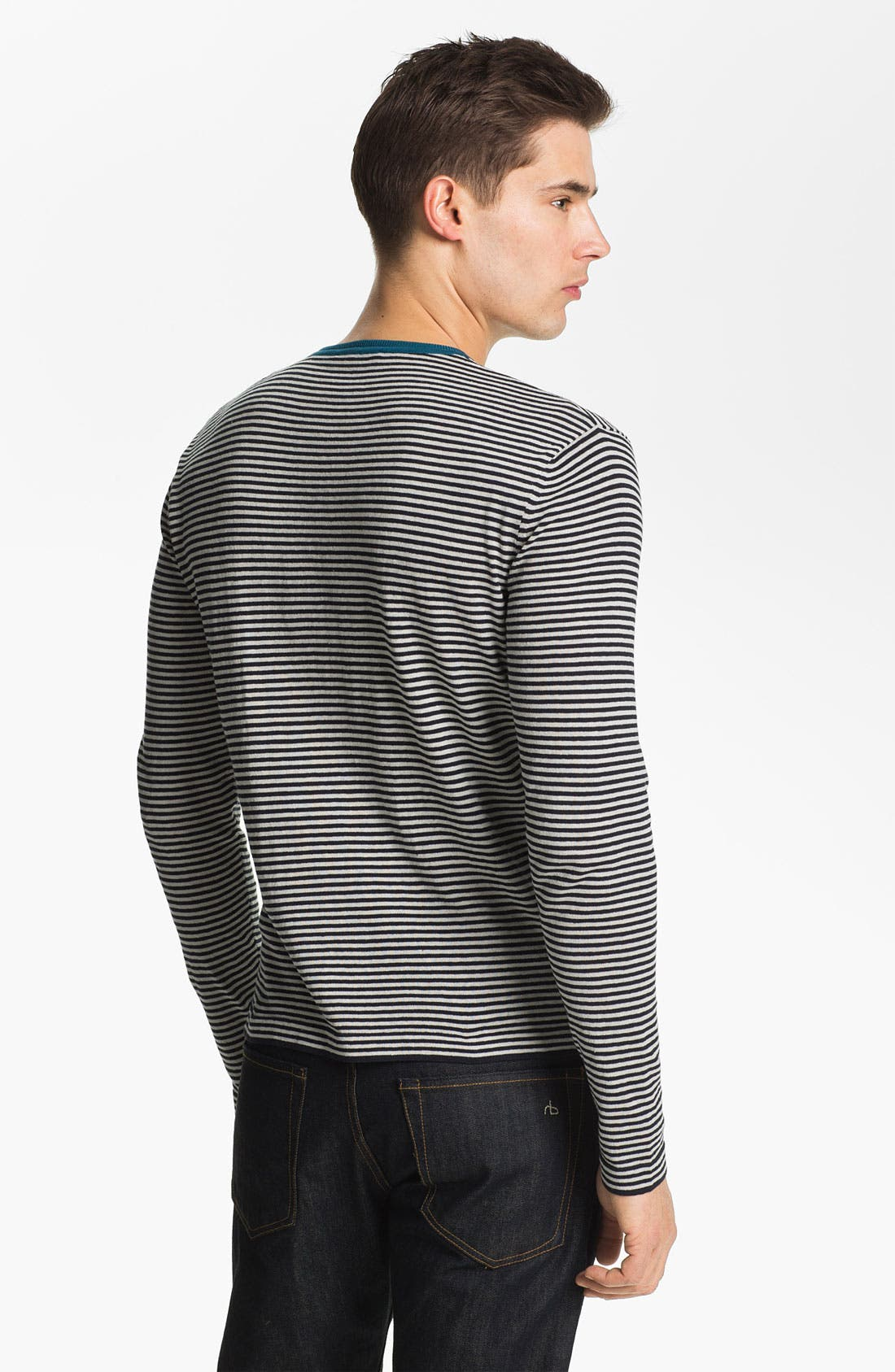 Alternate Image 2  - Zegna Sport Crewneck Cotton & Linen Sweater