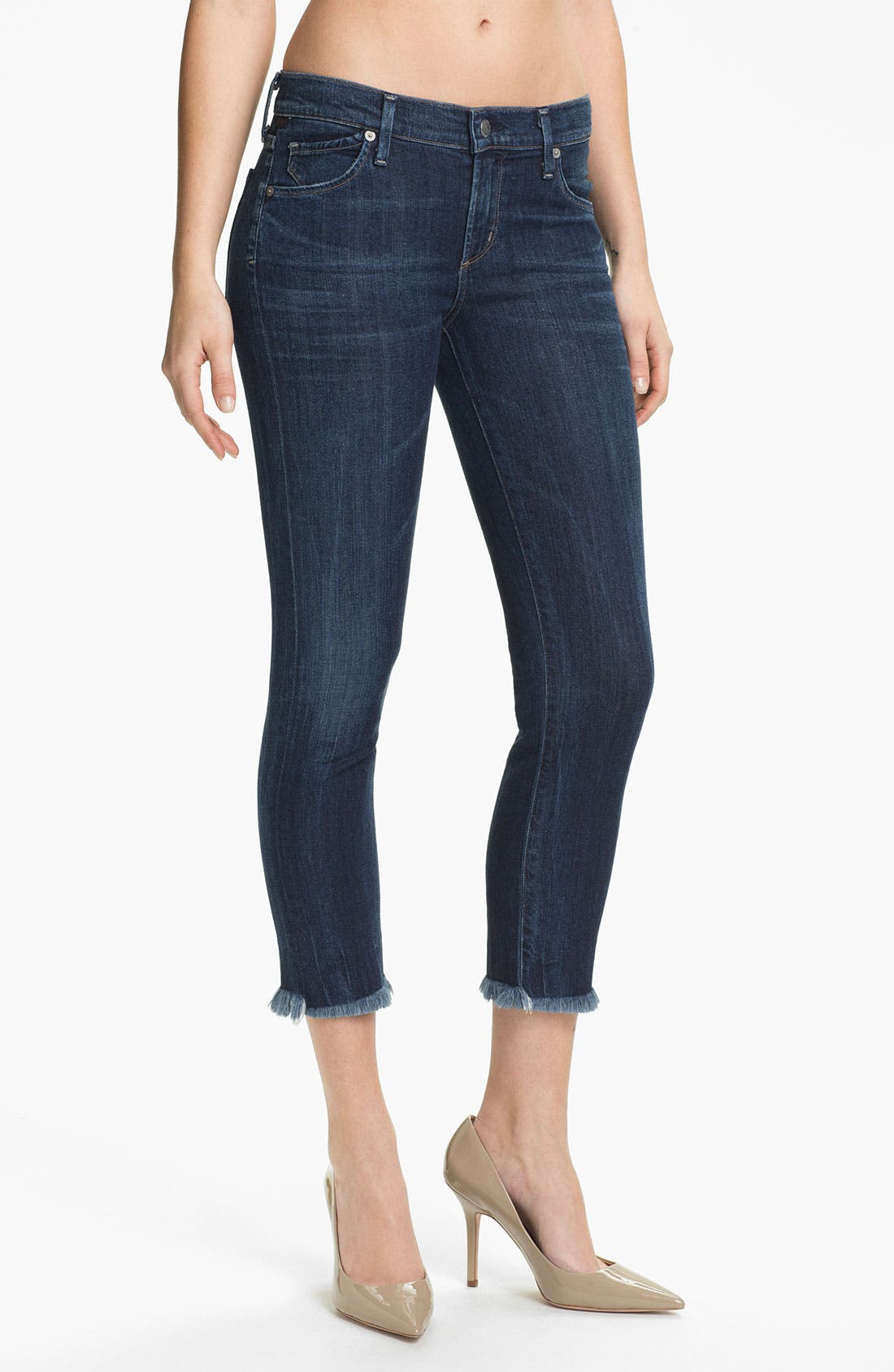 Alternate Image 1 Selected - Citizens of Humanity Cutoff Crop Skinny Jeans (Taboo)