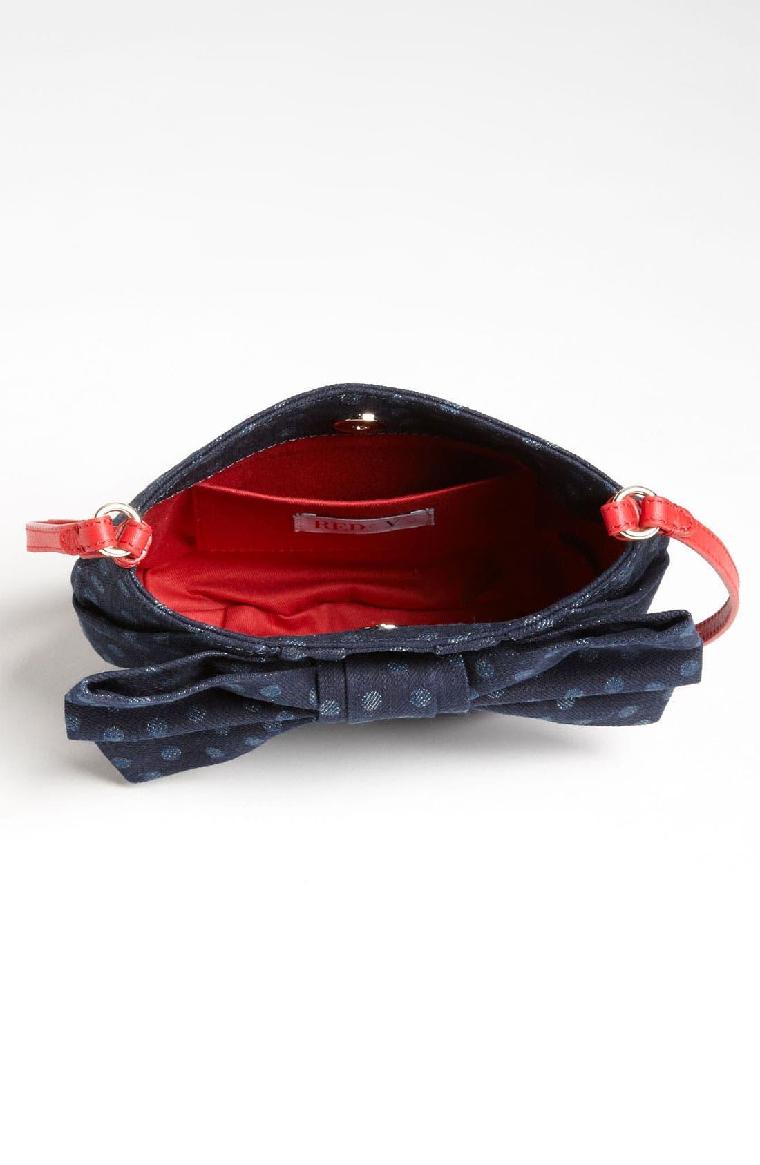 Alternate Image 3  - RED Valentino 'Bow' Denim Crossbody Bag