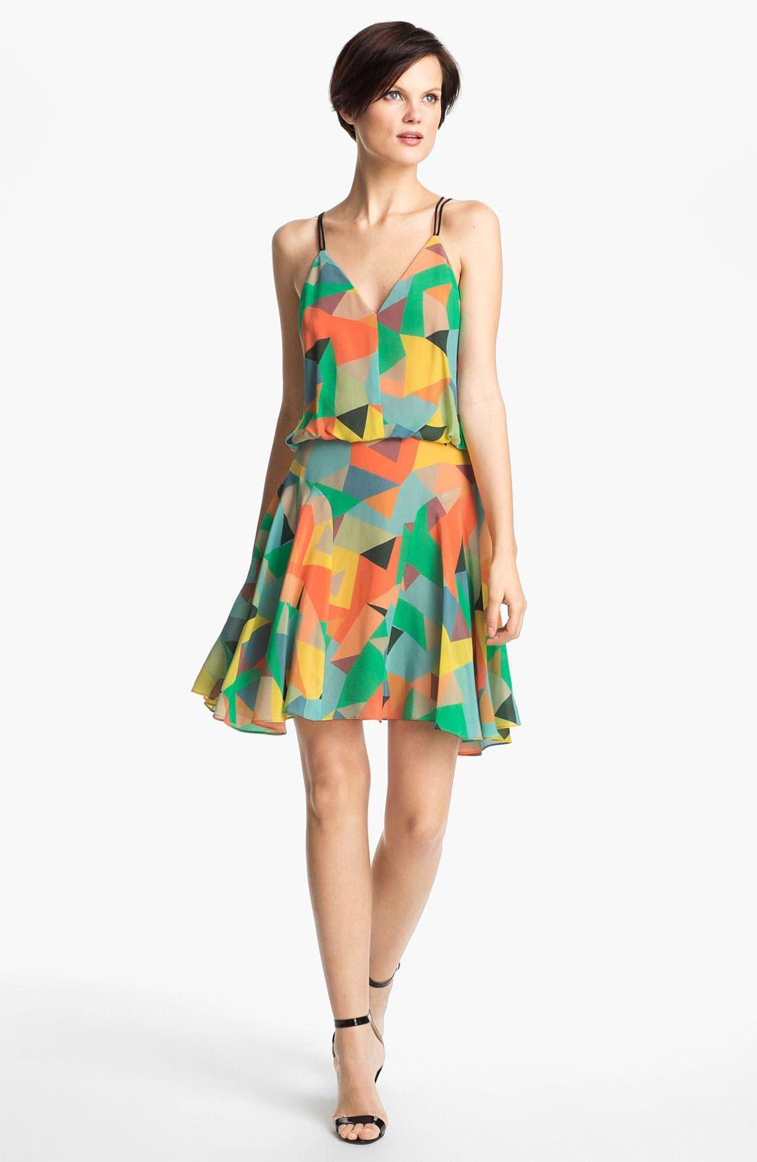 Alternate Image 1 Selected - Milly Silk Blouson Dress