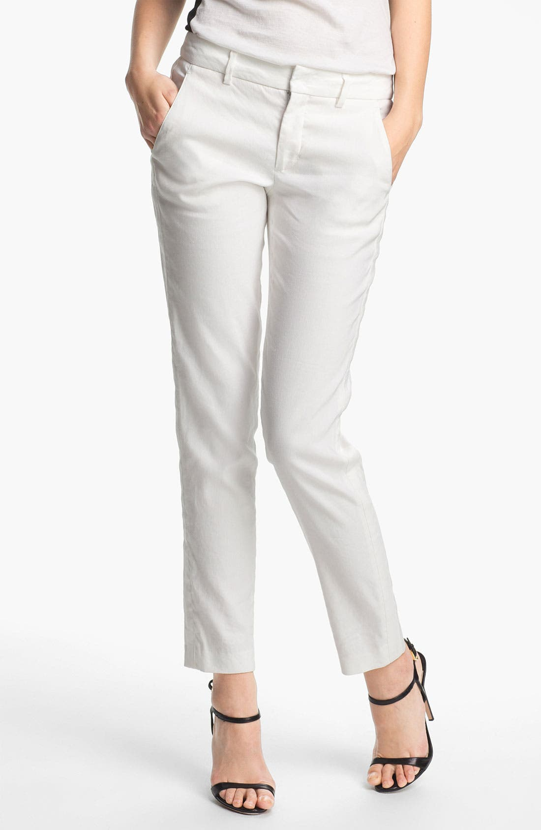 Main Image - Vince 'Strapping' Linen Blend Pants