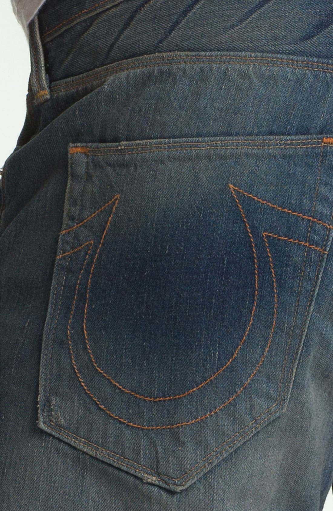 Alternate Image 4  - True Religion Brand Jeans 'Bobby 50s' Straight Leg Jeans (Deadwood)