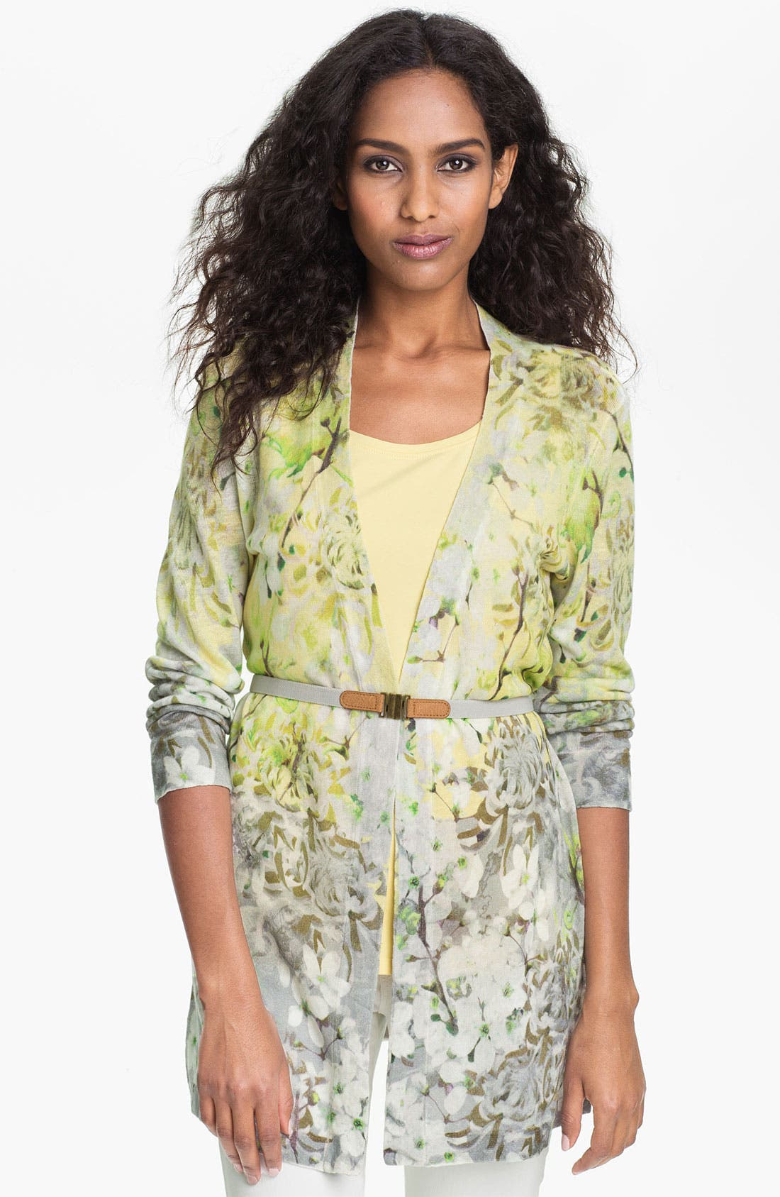 Alternate Image 1 Selected - Nic + Zoe 'Spring Garden' Belted Cardigan