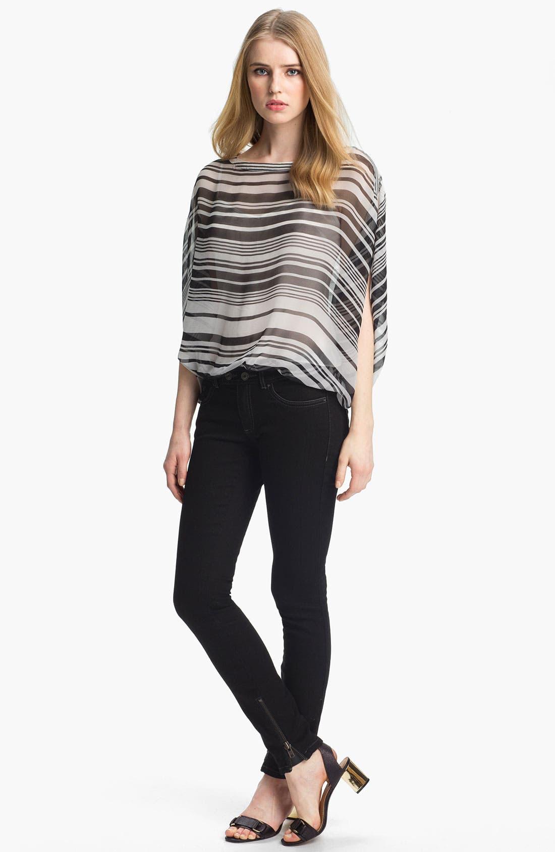 Alternate Image 1 Selected - Rachel Zoe 'Noel' Stripe Silk Top