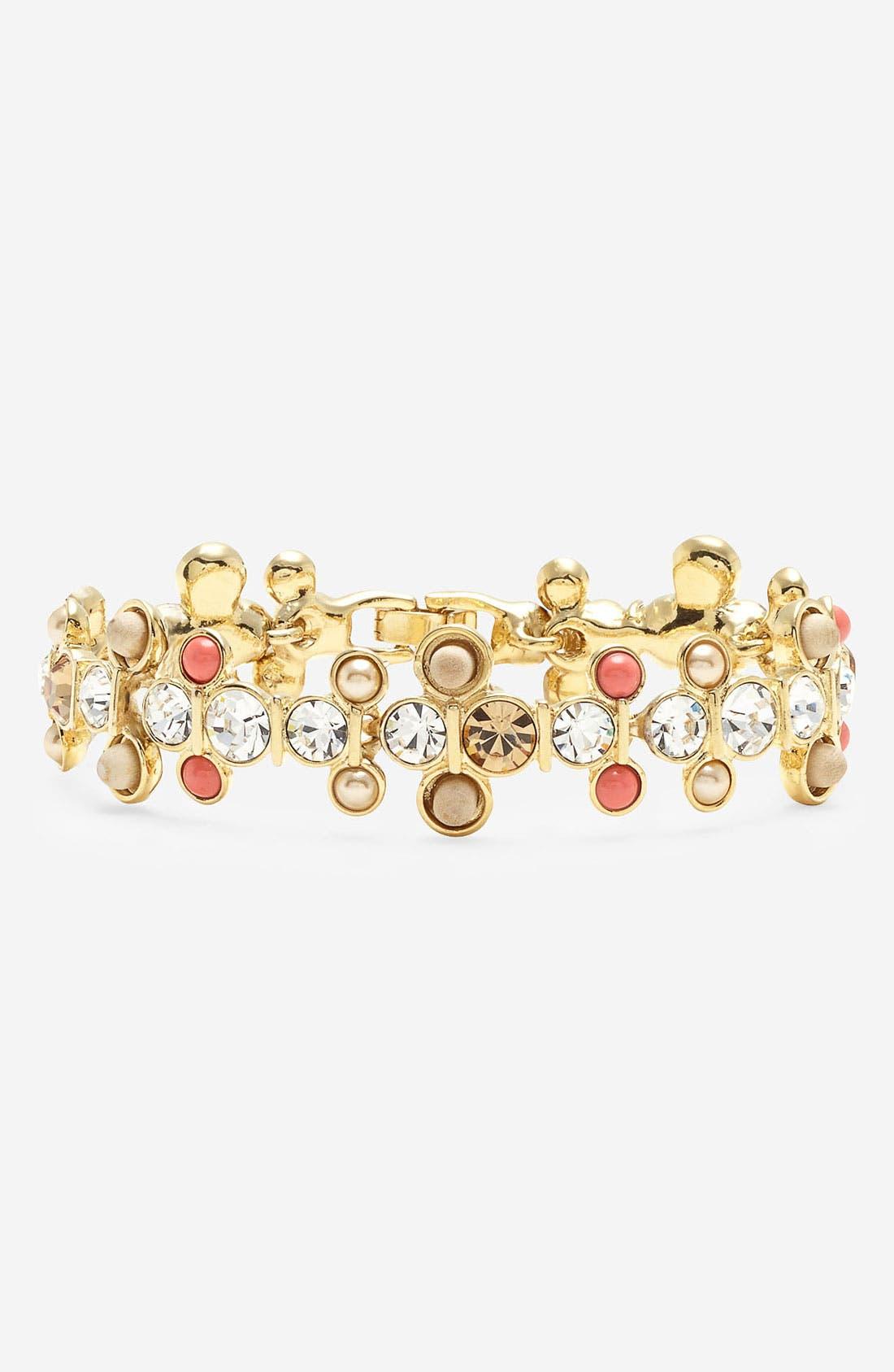 Main Image - Givenchy 'Lark' Crystal & Bead Line Bracelet