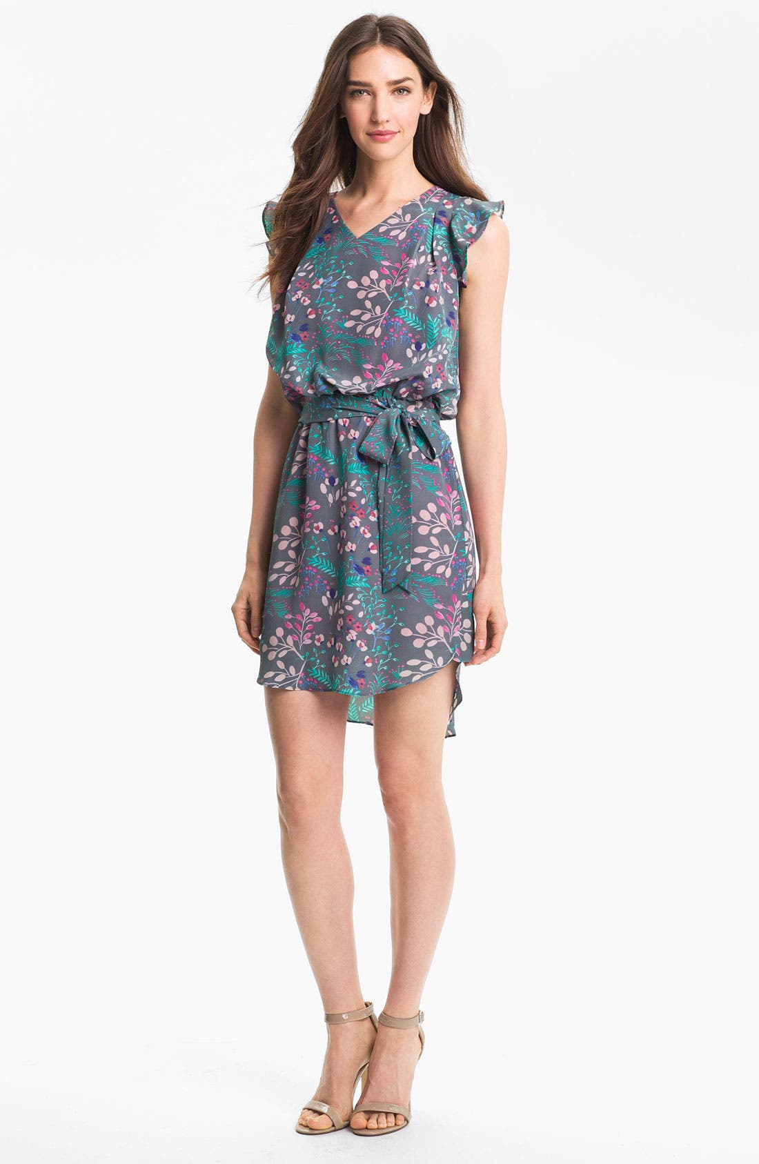 Alternate Image 1 Selected - Jessica Simpson Print Blouson Dress