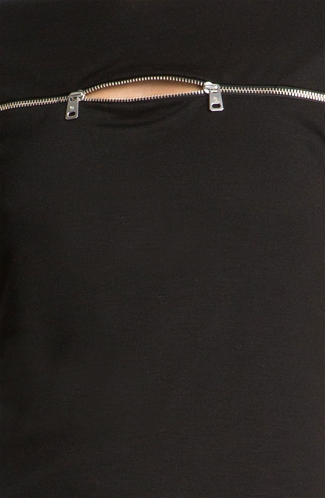 Alternate Image 4  - McQ by Alexander McQueen Zip Detail Knit Top