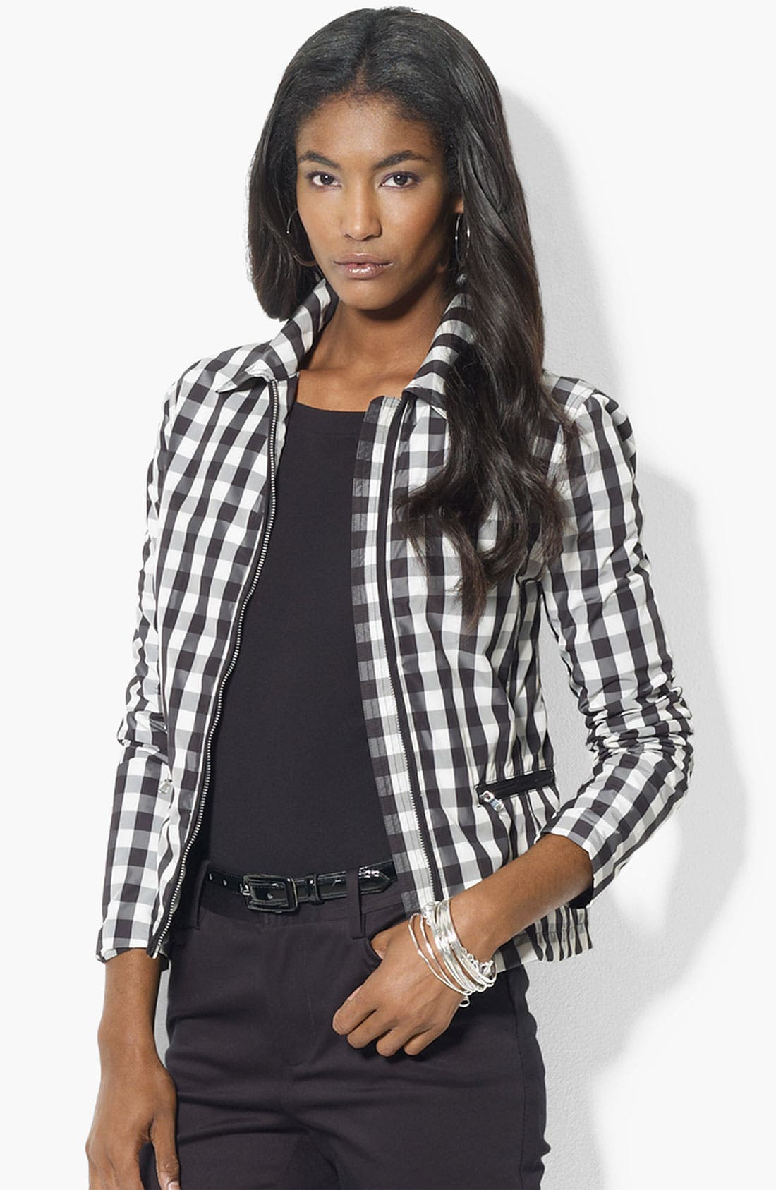 Alternate Image 1 Selected - Lauren Ralph Lauren Check Plaid Jacket