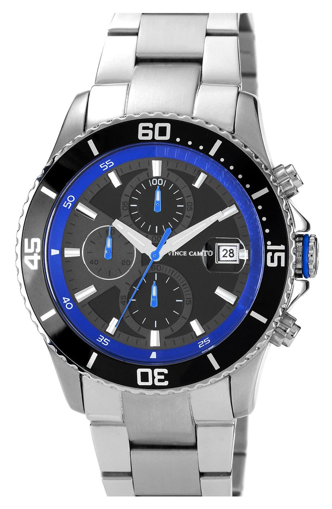 Main Image - Vince Camuto 'Cavalier' Chronograph Bracelet Watch, 45mm