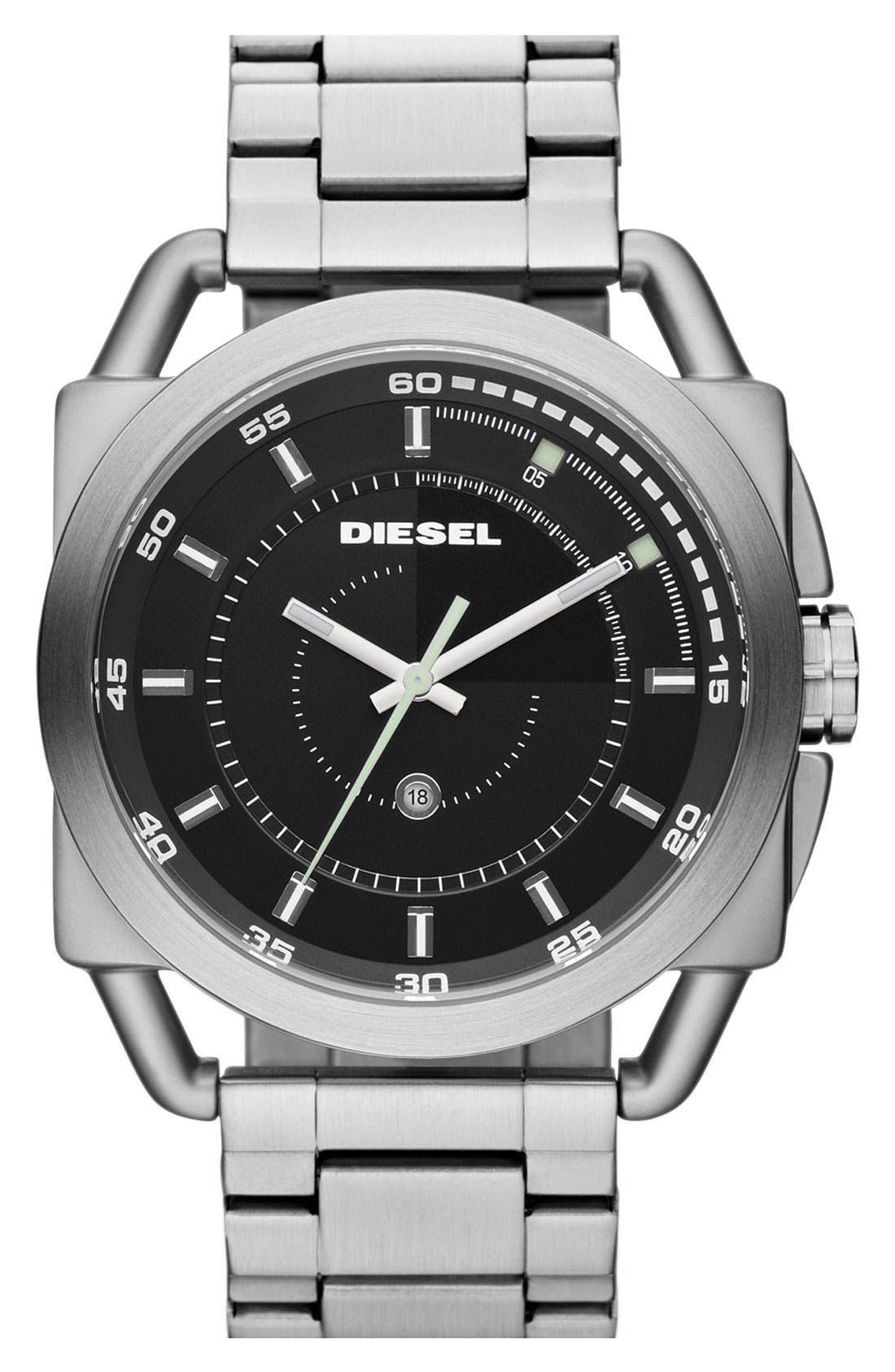 Alternate Image 1 Selected - DIESEL® 'Descender' Bracelet Watch, 50mm