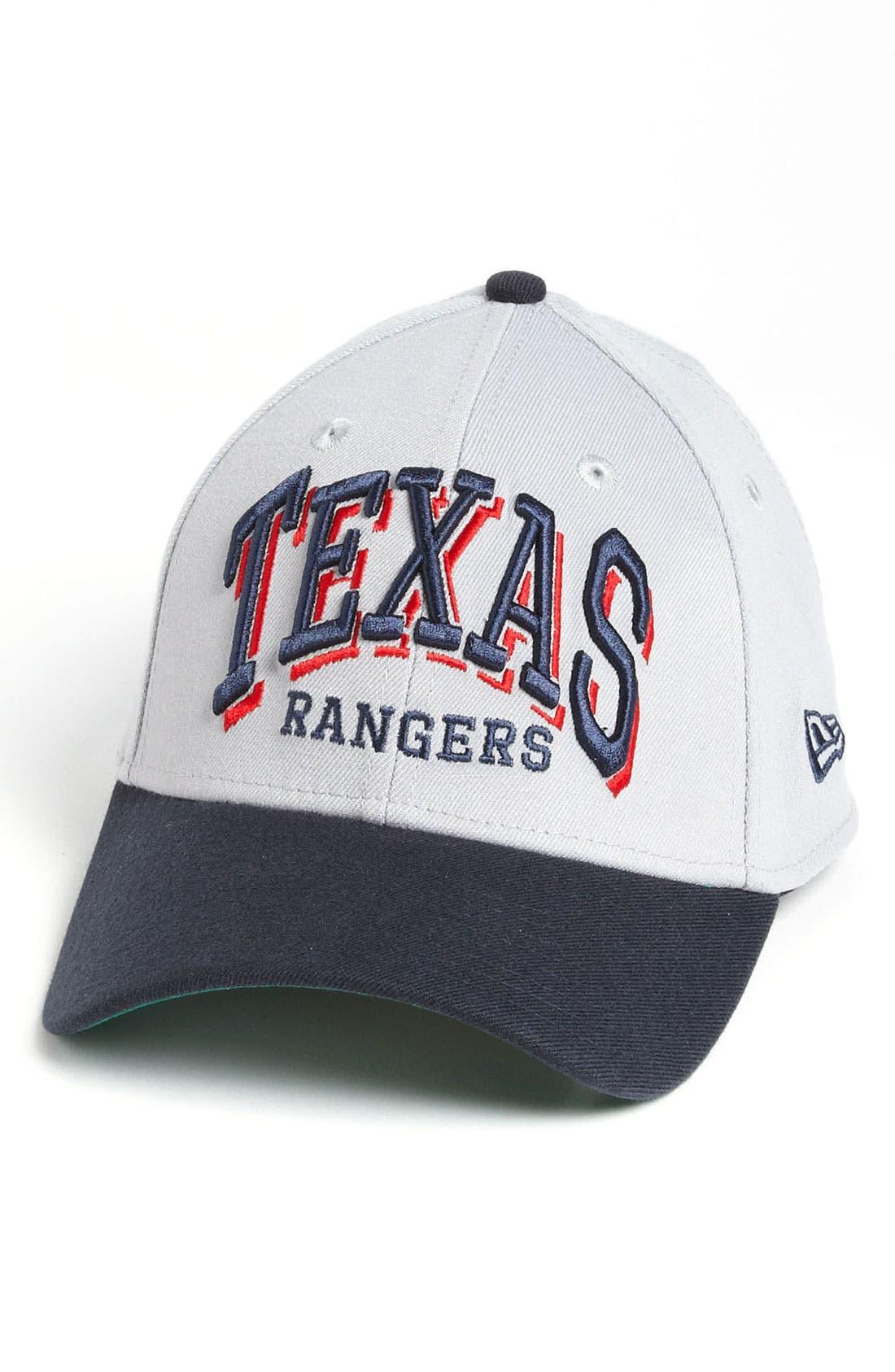 Main Image - New Era Cap 'Texas Rangers - Arch Mark' Fitted Baseball Cap