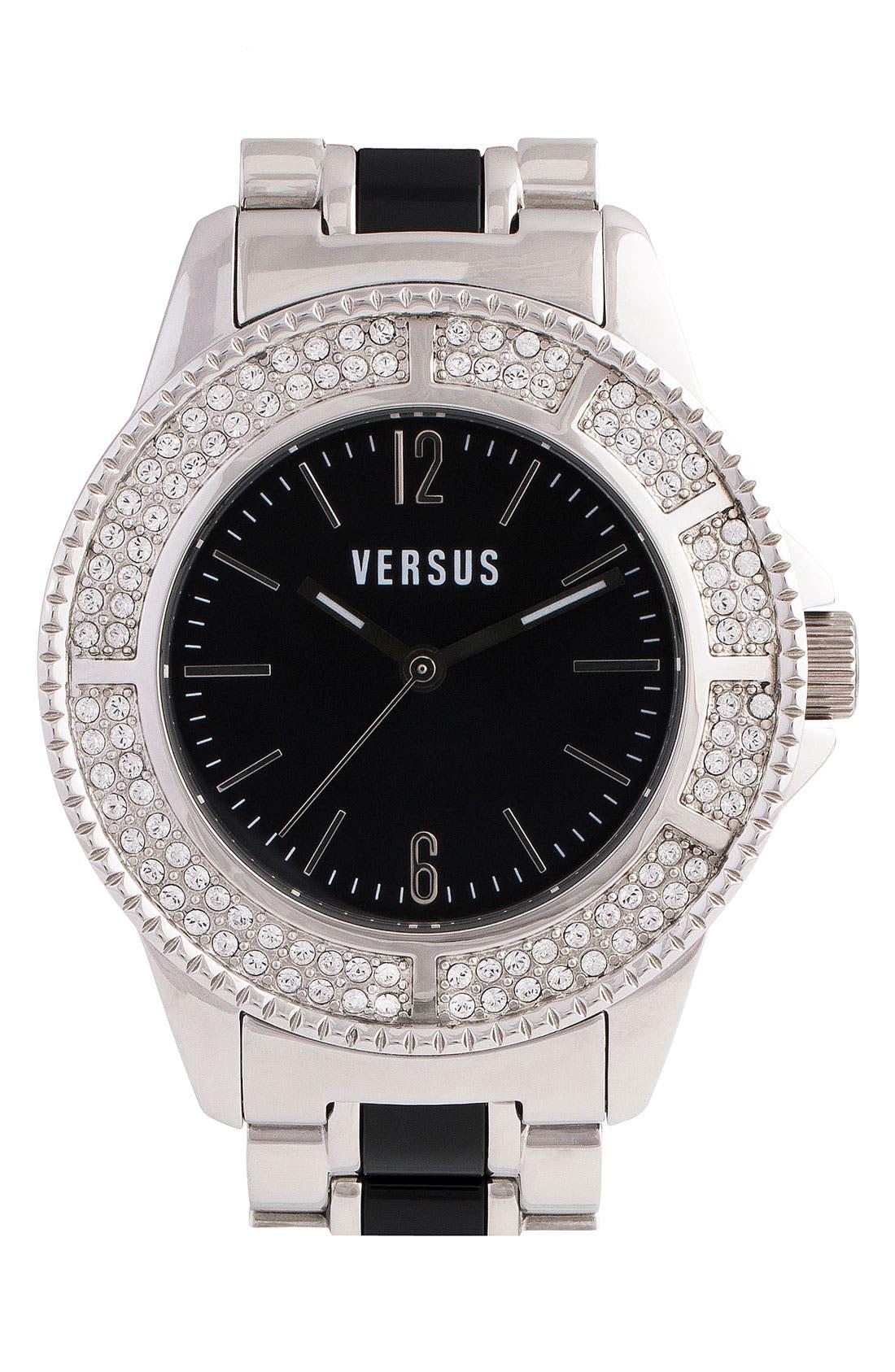 Alternate Image 1 Selected - Versus by Versace 'Tokyo' Crystal Bezel Bracelet Watch