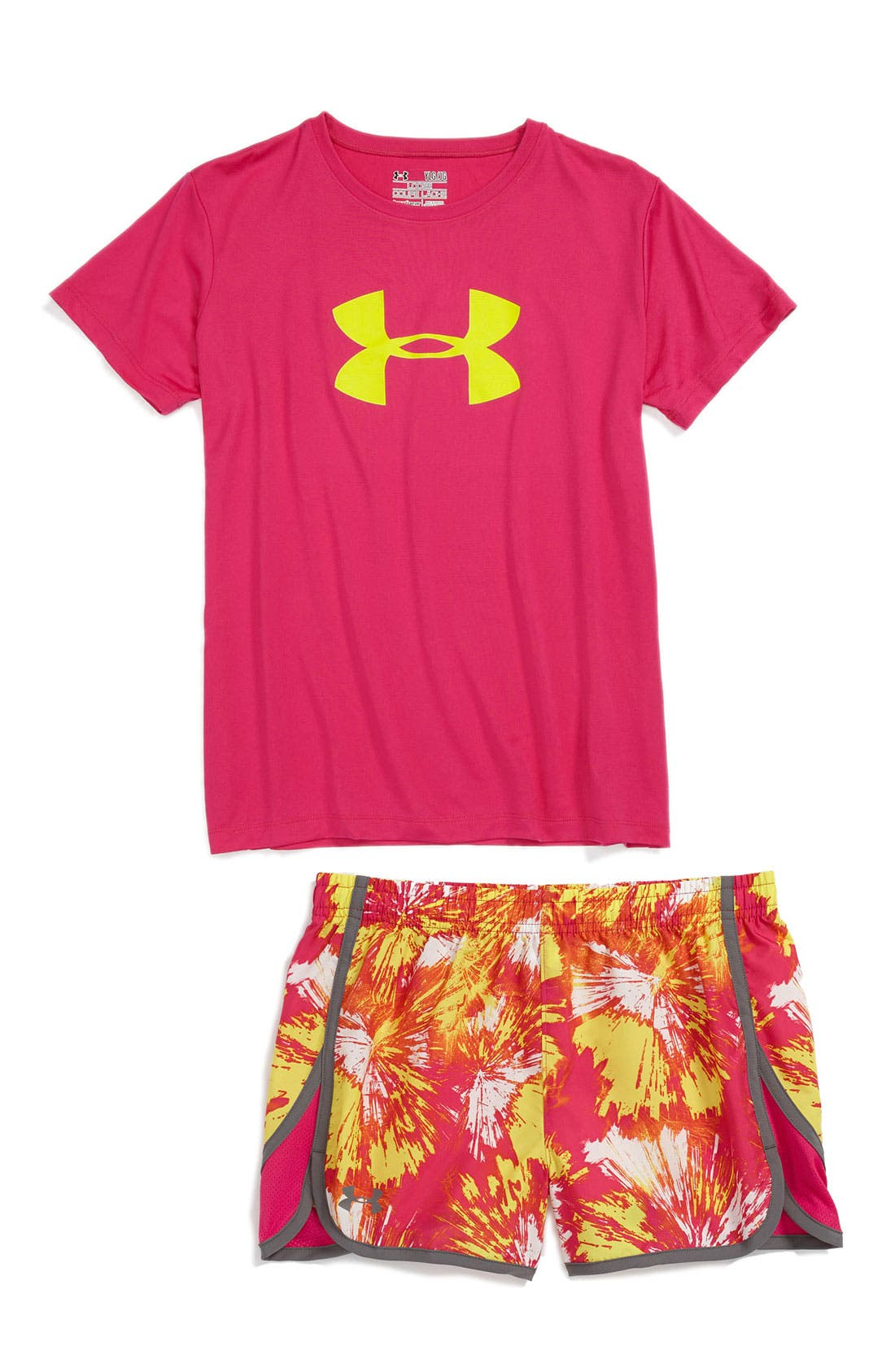 Alternate Image 1 Selected - Under Armour Tee & Shorts (Big Girls)