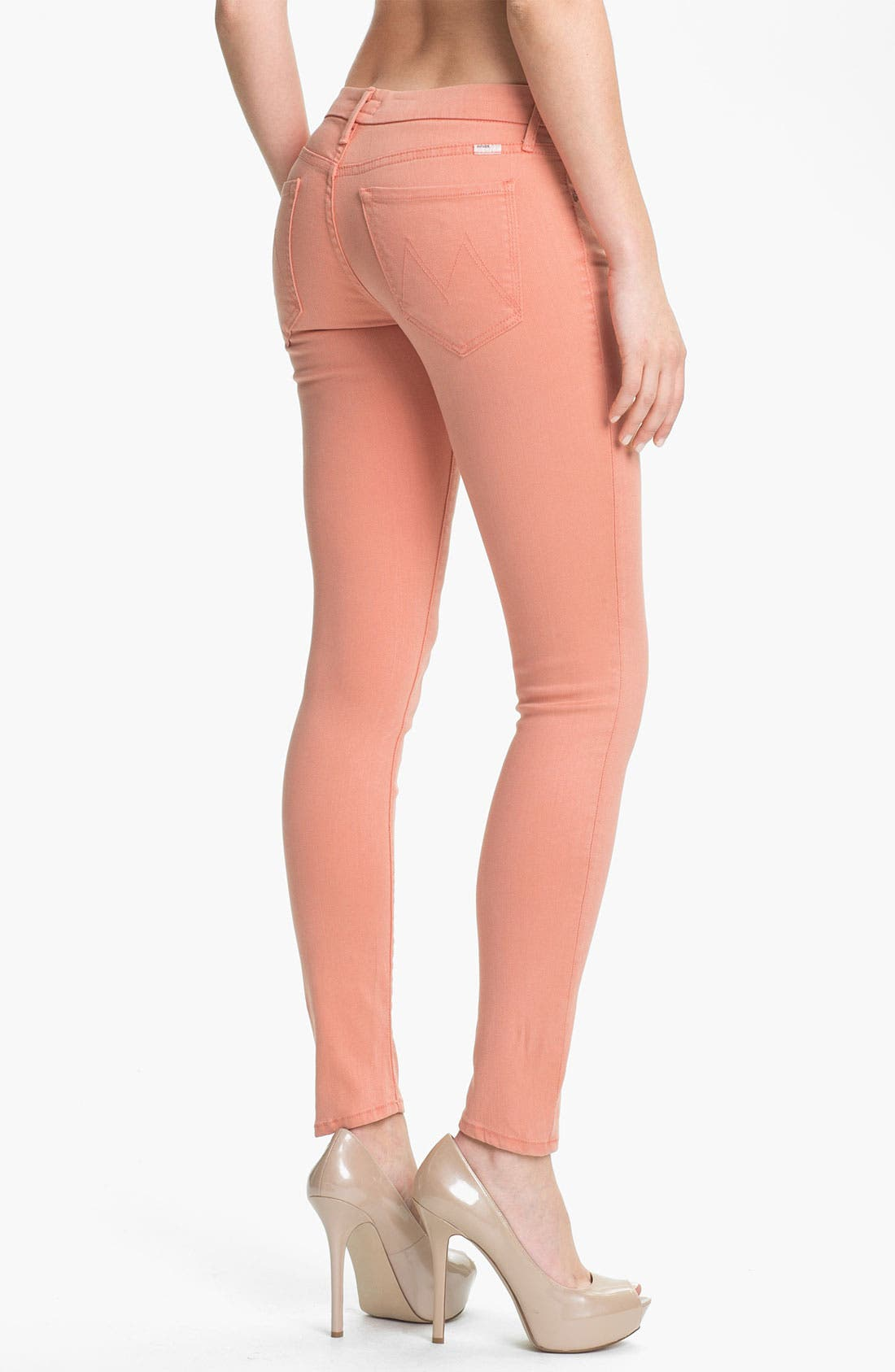 Alternate Image 2  - MOTHER 'The Looker' Skinny Stretch Jeans (Peach Knockout)
