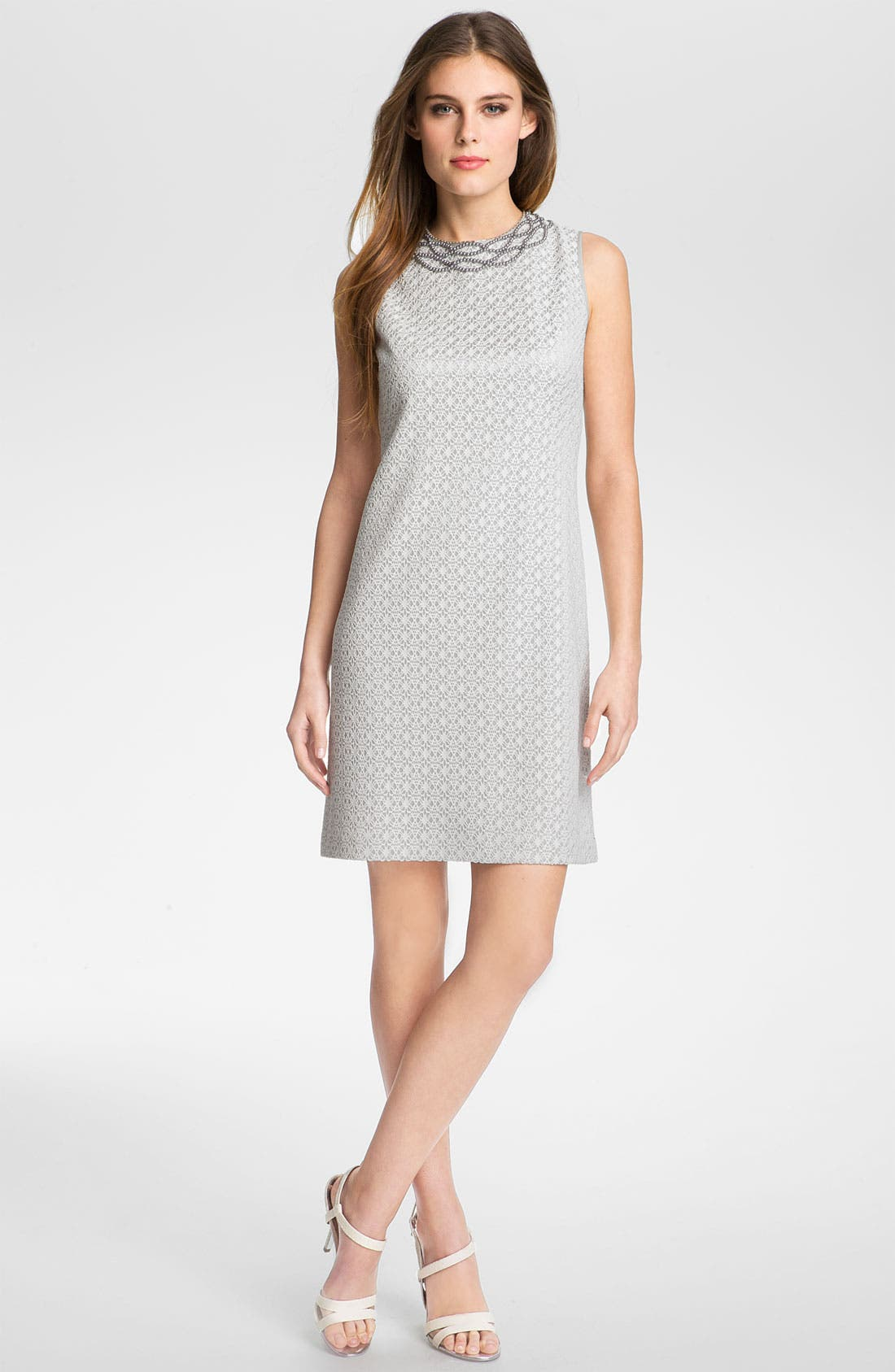 Alternate Image 1 Selected - Adrianna Papell Embellished Lace Shift Dress (Plus)