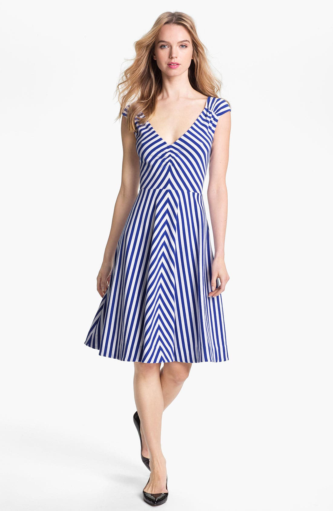 Main Image - kate spade new york 'ethel' stretch cotton a-line dress
