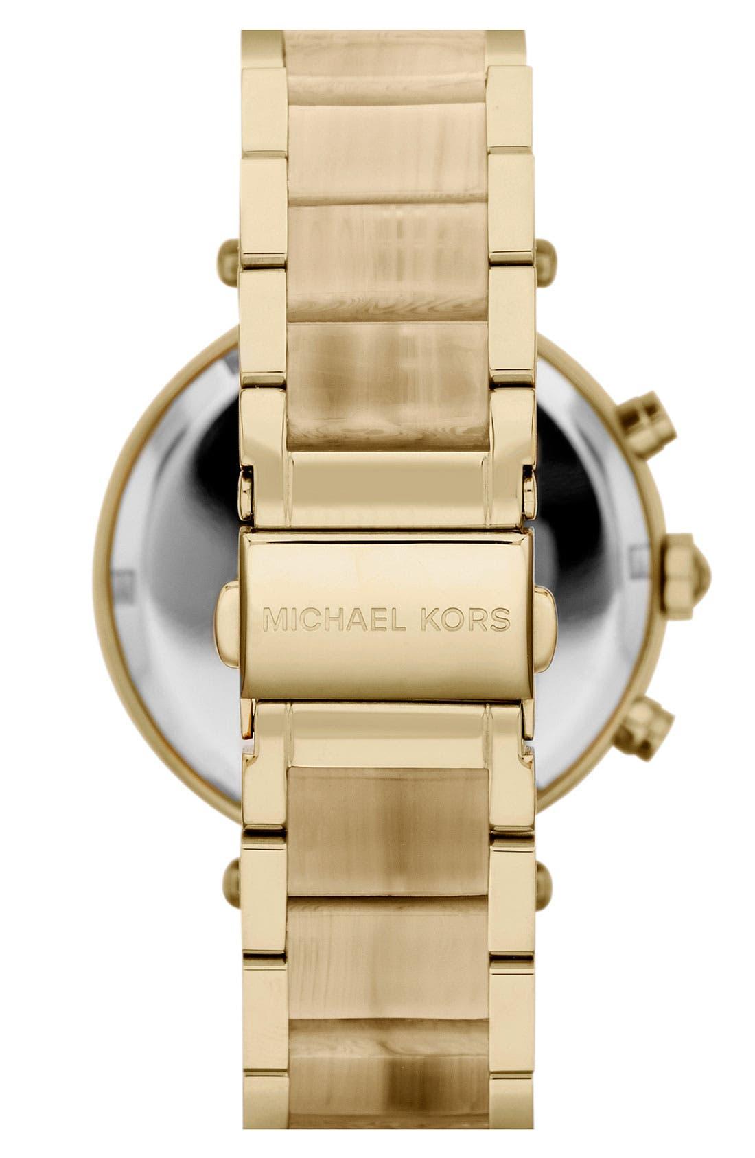 'Parker' Chronograph Watch, 39mm,                             Alternate thumbnail 2, color,                             Gold/ Horn