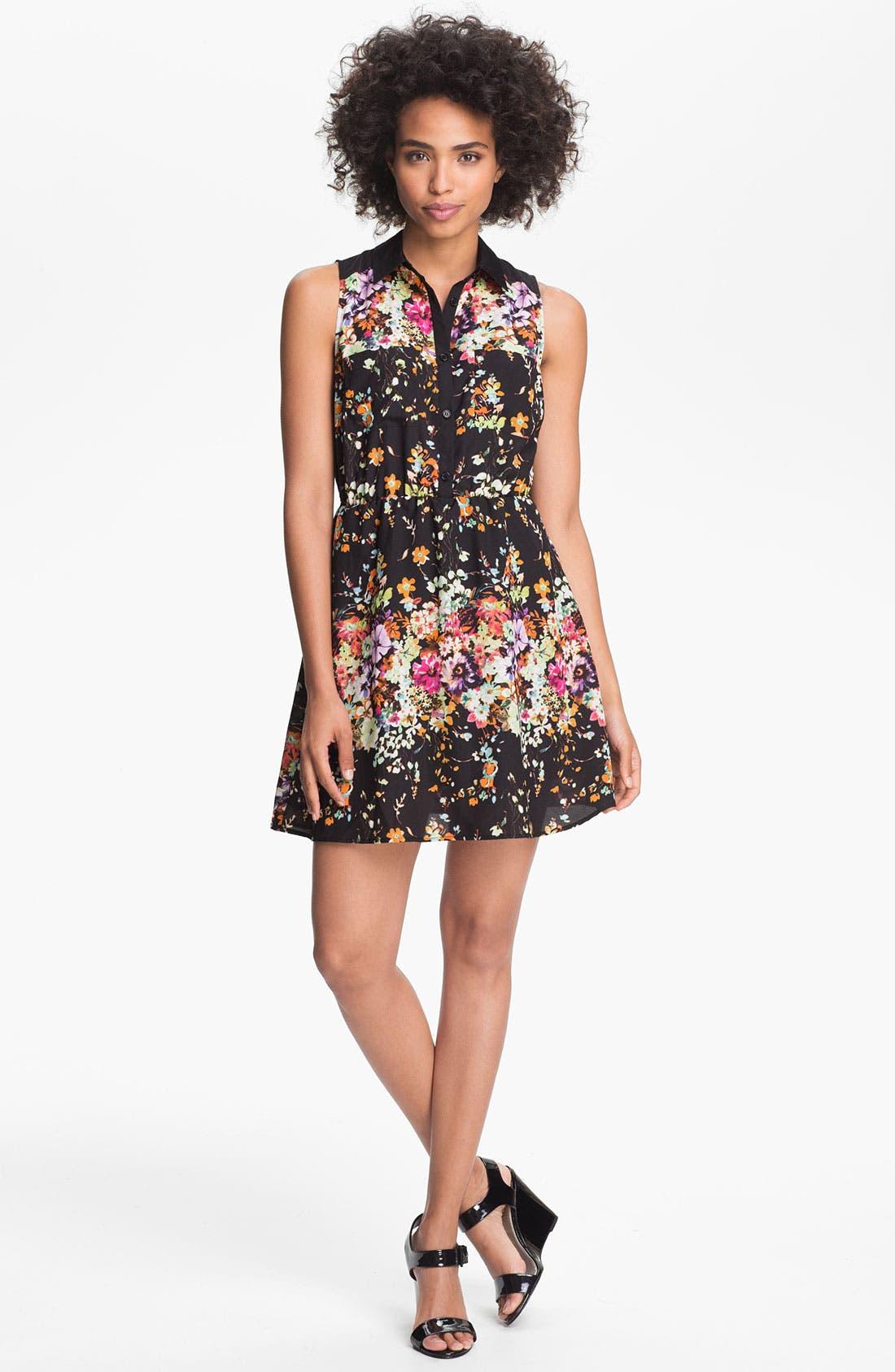 Alternate Image 1 Selected - Olive & Oak Floral Print Shirtdress
