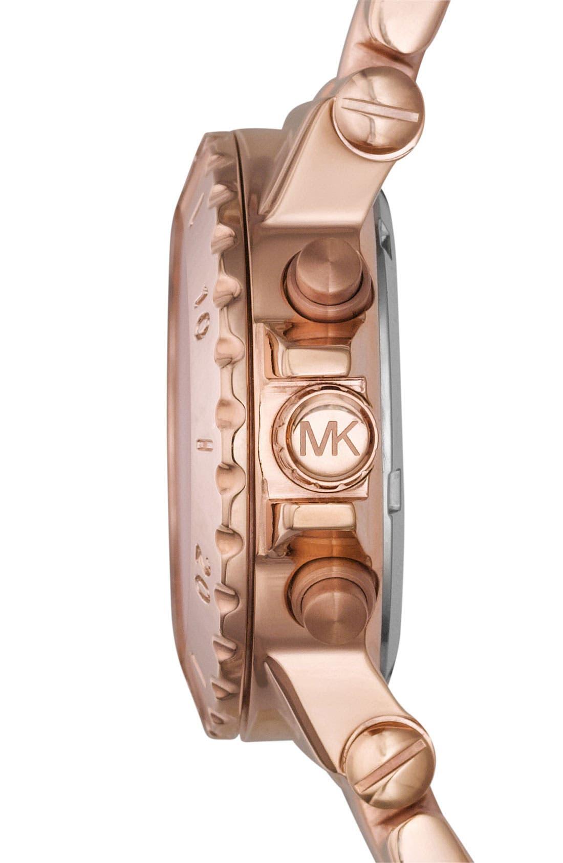 Alternate Image 2  - Michael Kors Small Rose Gold Chronograph Watch