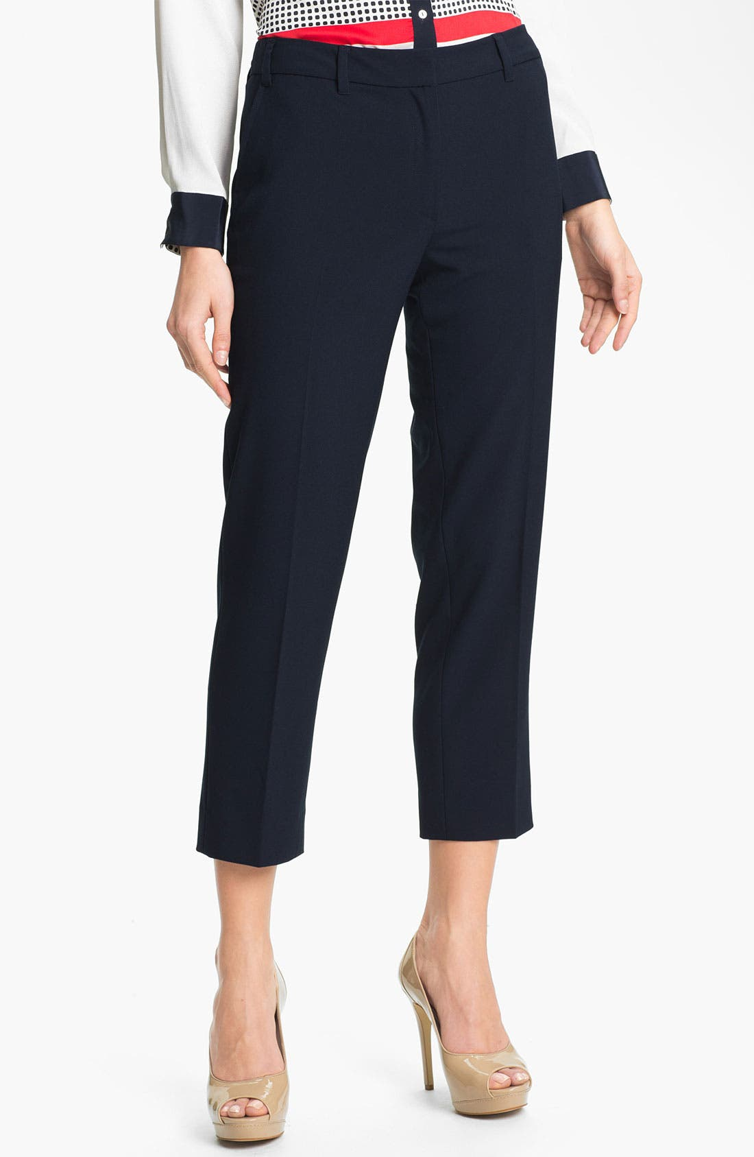 Alternate Image 1 Selected - Adrianna Papell Double Belt Loop Crop Pants