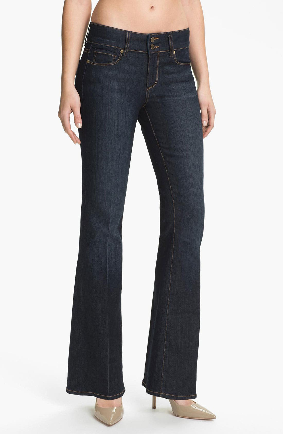 Alternate Image 1 Selected - Paige Denim 'Hidden Hills' Bootcut Stretch Jeans (Carson) (Petite)