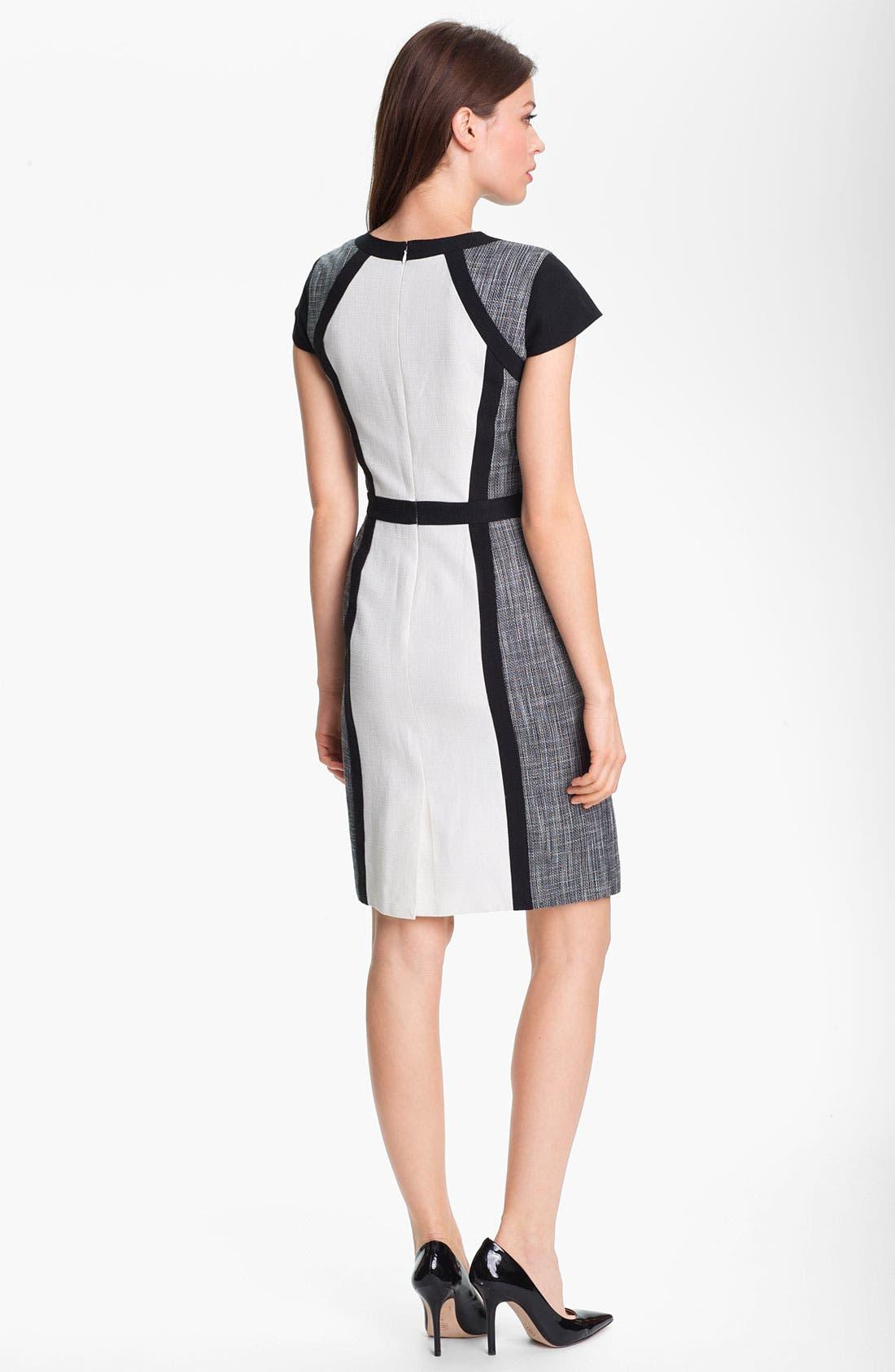 Alternate Image 2  - Calvin Klein Colorblock Panel Dress