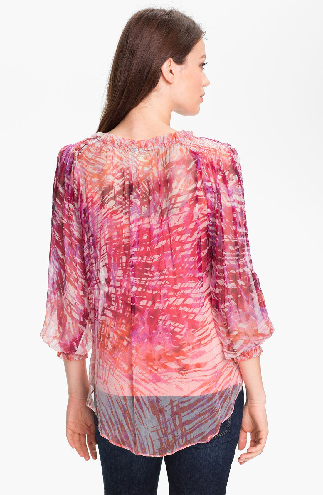 Alternate Image 2  - Casual Studio Sheer Print Blouse