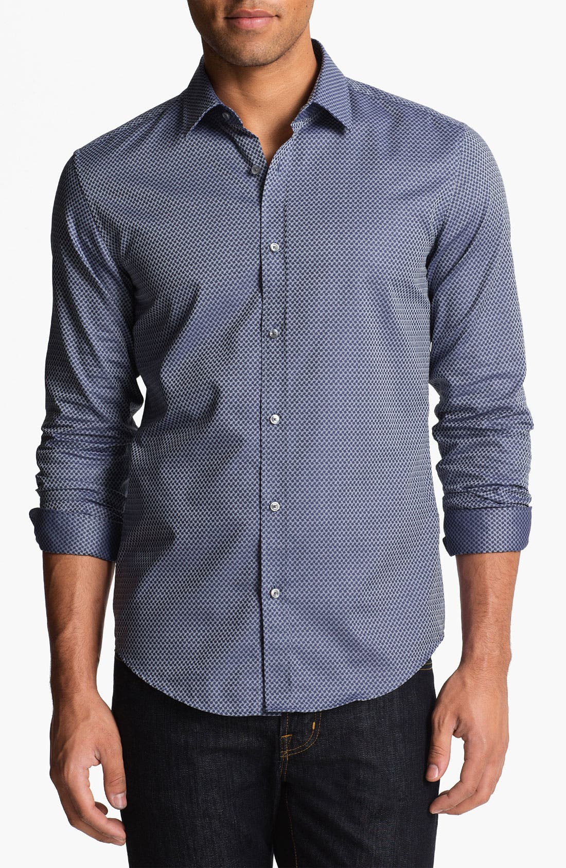 Alternate Image 1 Selected - BOSS Black 'Ronny' Slim Fit Sport Shirt