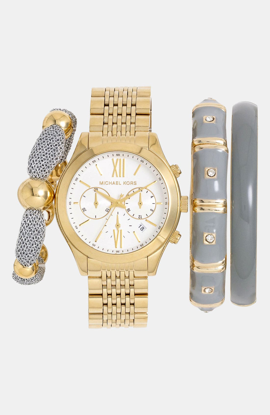 Alternate Image 2  - Michael Kors 'Brookton' Chronograph Bracelet Watch, 42mm