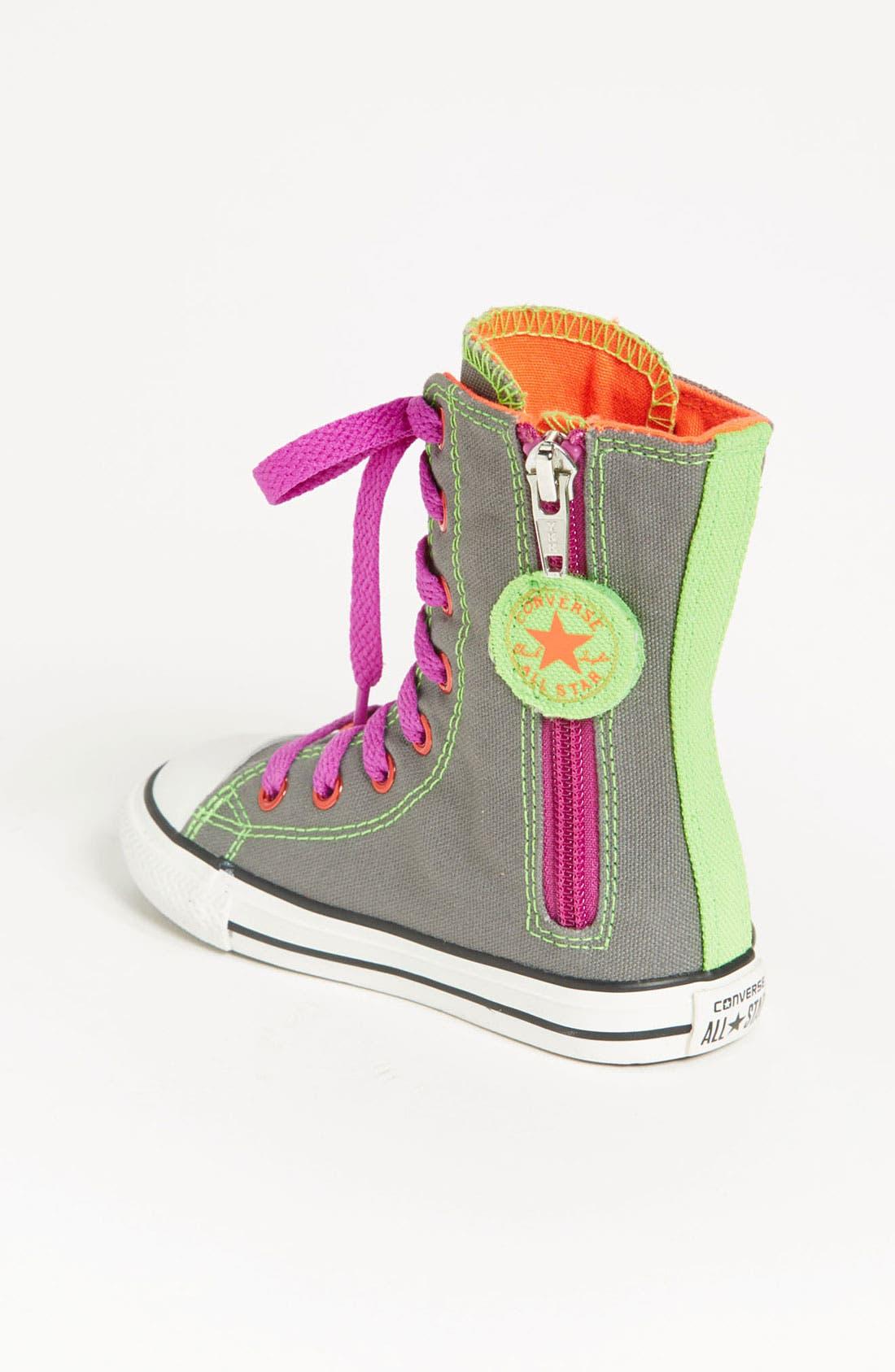 Alternate Image 2  - Converse Chuck Taylor® All Star® 'Neon X-HI' Sneaker (Walker & Toddler)