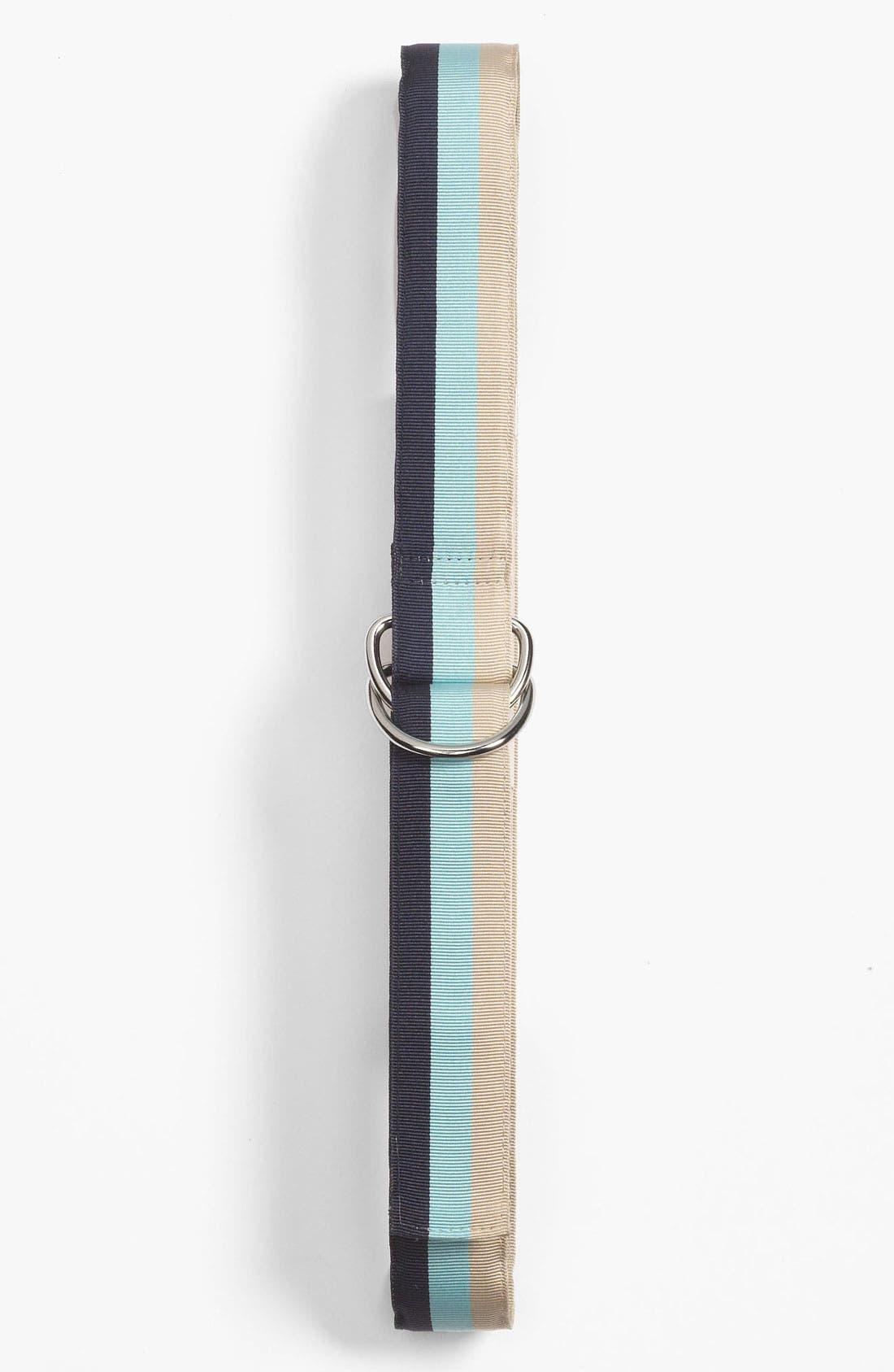 Alternate Image 1 Selected - Brooks Brothers Ribbon Stripe Belt (Big Boys)