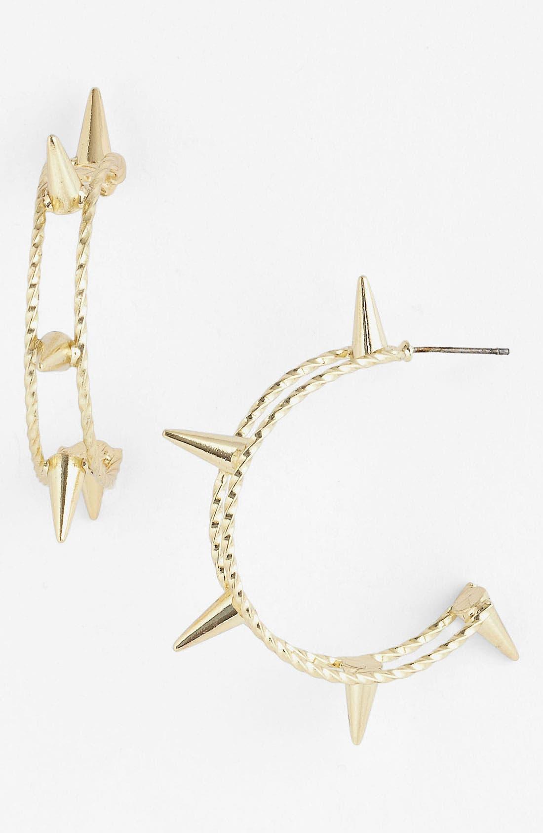 Alternate Image 1 Selected - Stephan & Co. Spike Hoop Earrings
