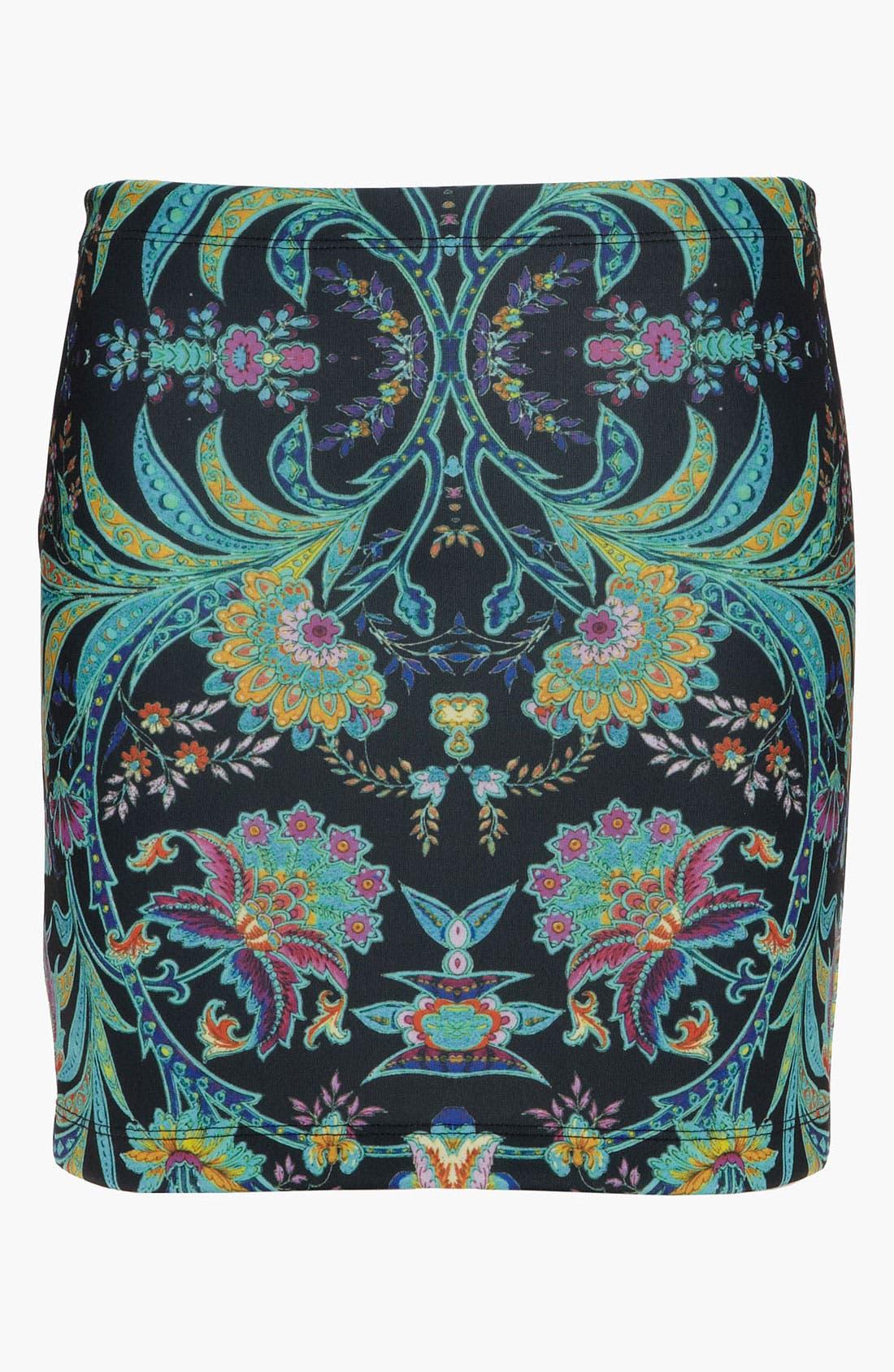 Alternate Image 1 Selected - Dream Daily 'Nomadic Flowers' Skirt