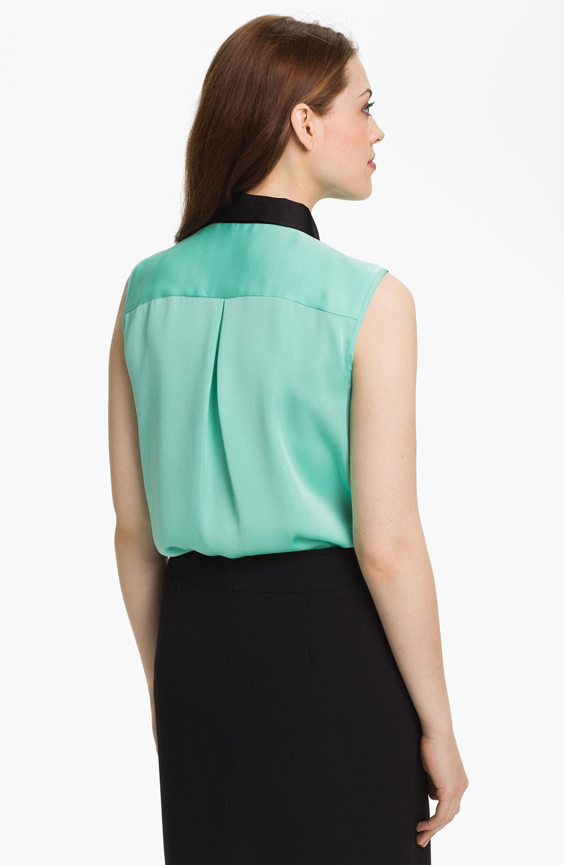 Alternate Image 2  - Vince Camuto Contrast Collar Sleeveless Blouse