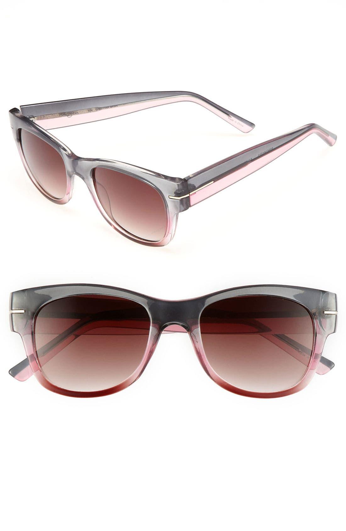 Halogen Retro 51mm Sunglasses,                         Main,                         color, Grey/ Pink