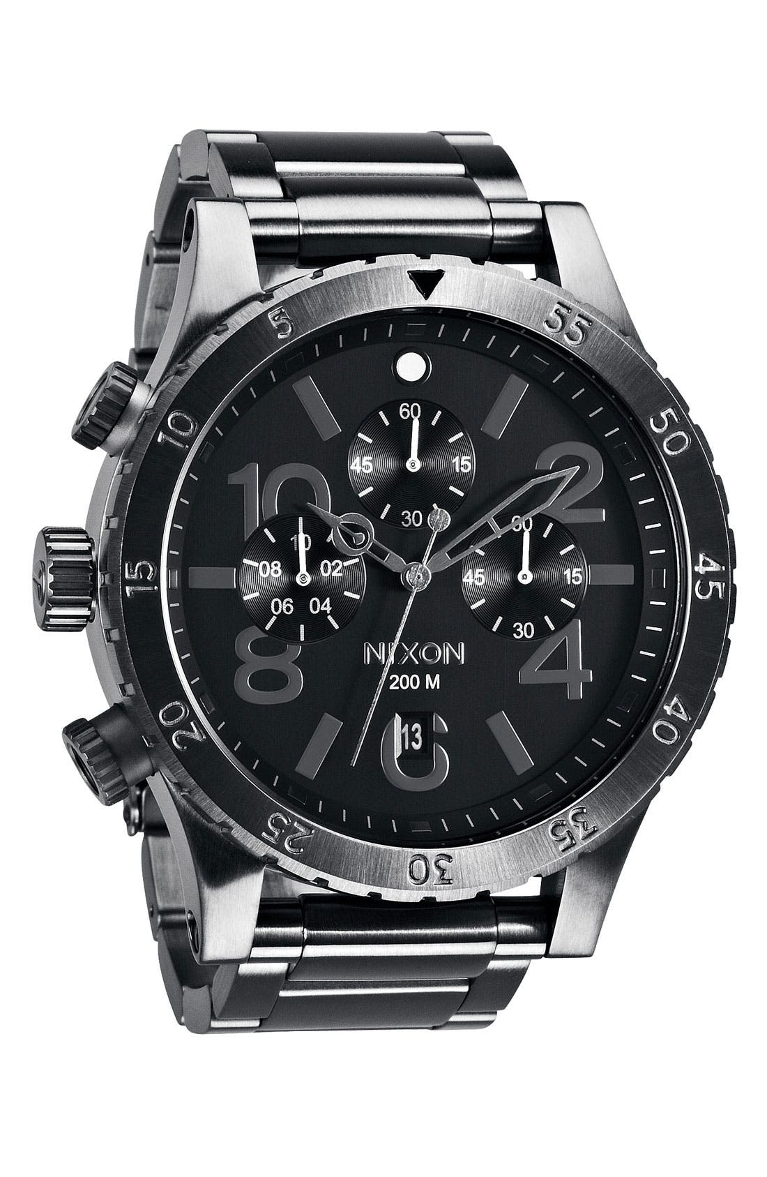 'The 48-20' Chronograph Watch, 48mm,                         Main,                         color, Gunmetal