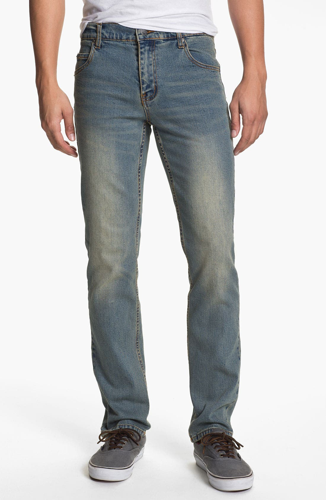 Alternate Image 2  - Cheap Monday Tight Slim Straight Leg Jeans (Dirt Blue)