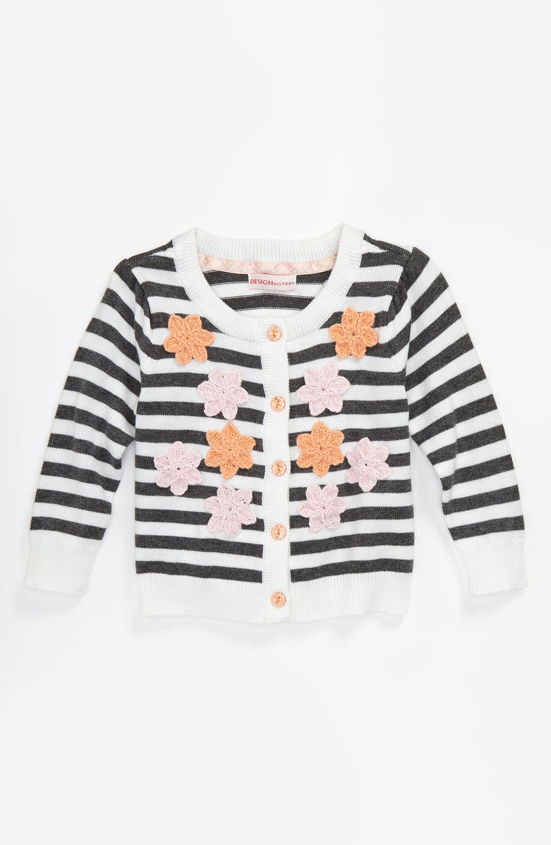 Main Image - Design History Stripe Cardigan (Infant)