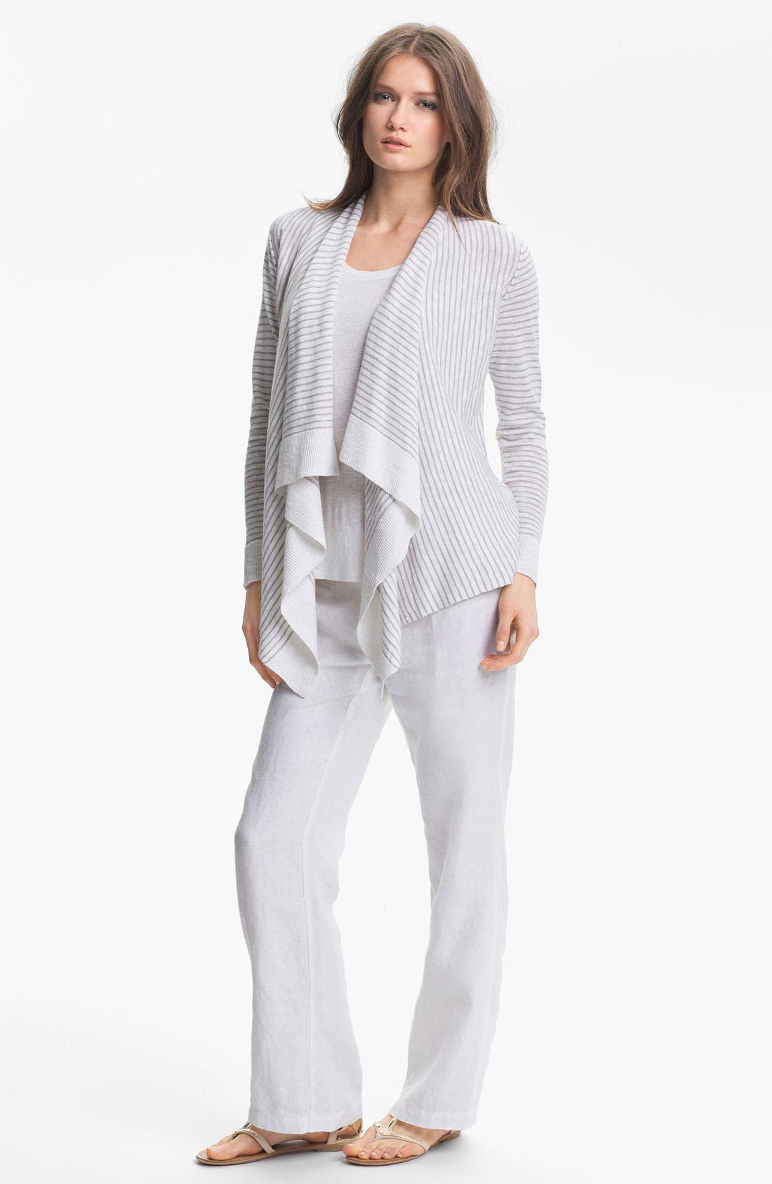 Alternate Image 4  - Eileen Fisher Linen & Cotton Cascade Cardigan
