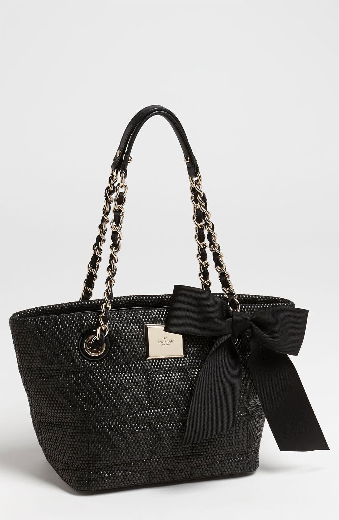 Main Image - kate spade new york 'signature spade - mini coal' shoulder bag