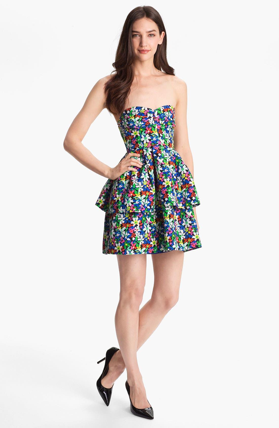 Alternate Image 1 Selected - kate spade new york 'karmen' cotton blend fit & flare dress