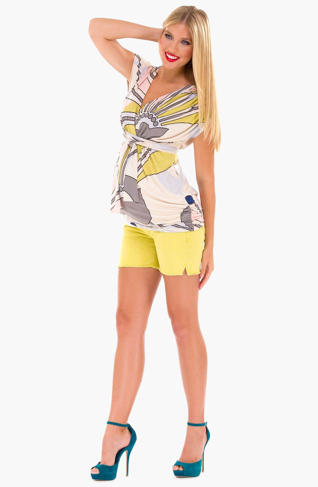 Alternate Image 2  - Olian Print Maternity Tunic