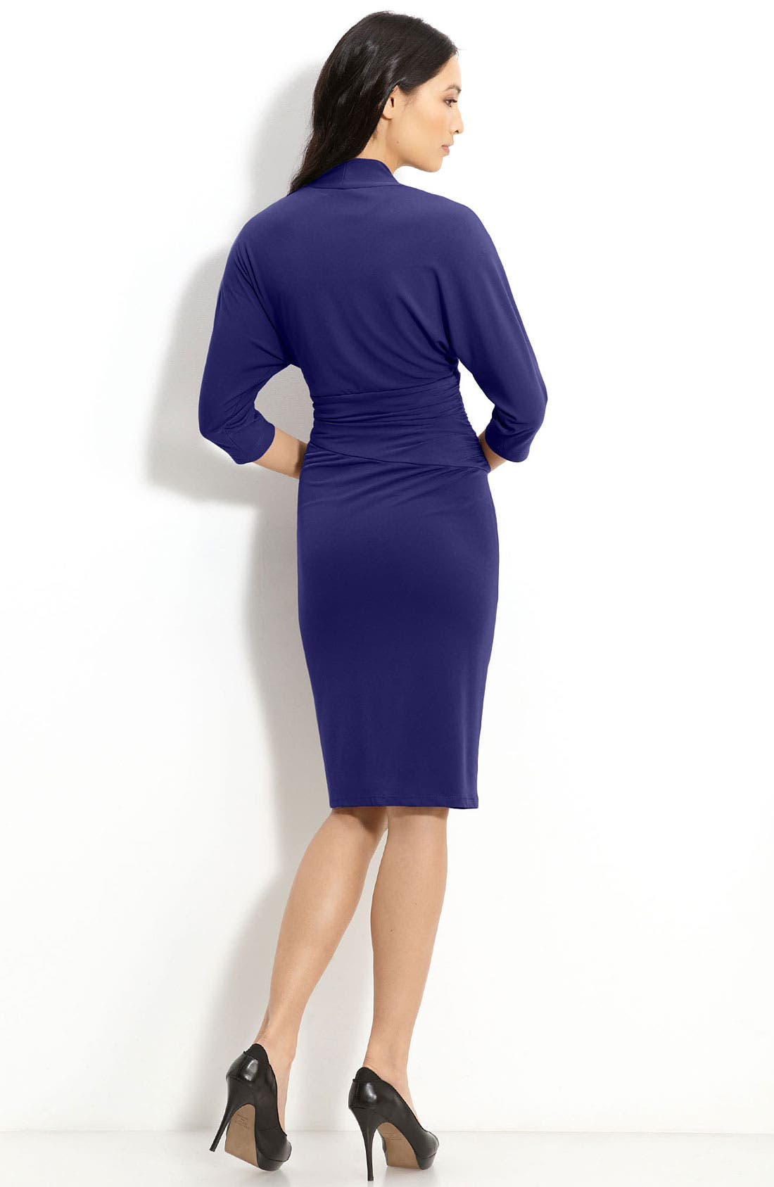 Alternate Image 2  - Suzi Chin for Maggy Boutique Faux Wrap Jersey Dress