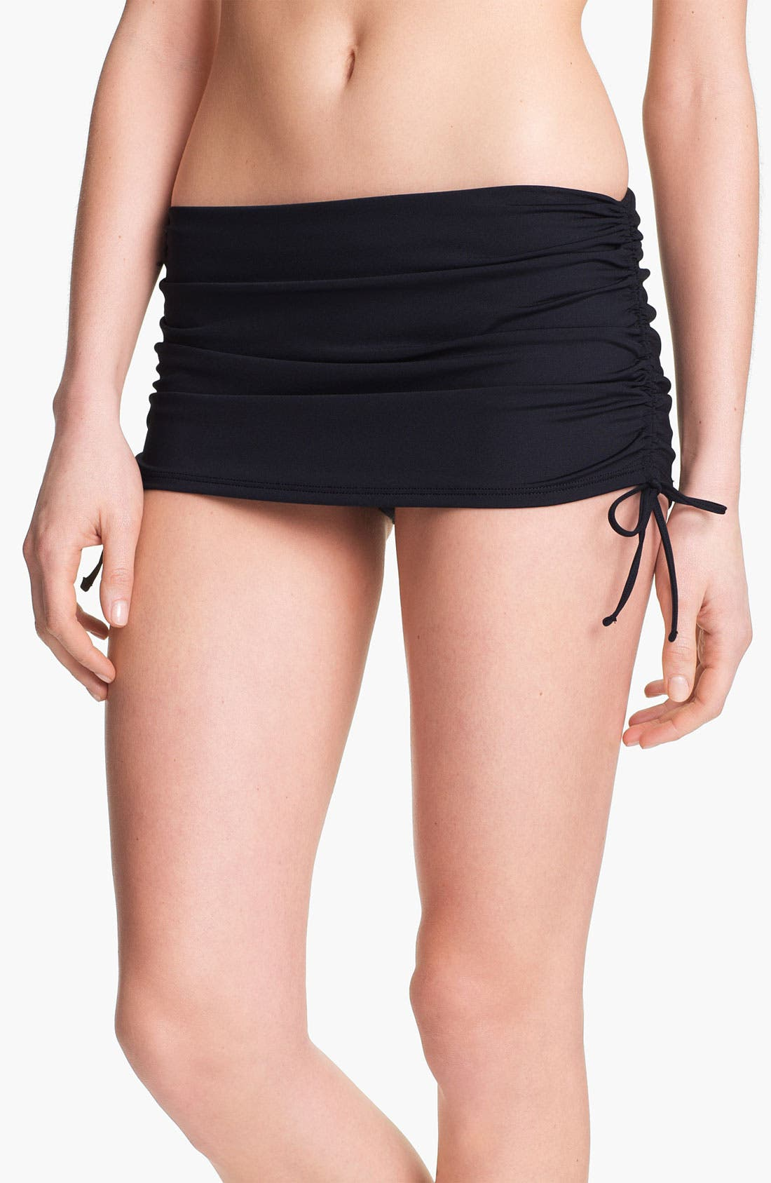 Skirted Hipster Bikini Bottoms,                             Main thumbnail 1, color,                             Black