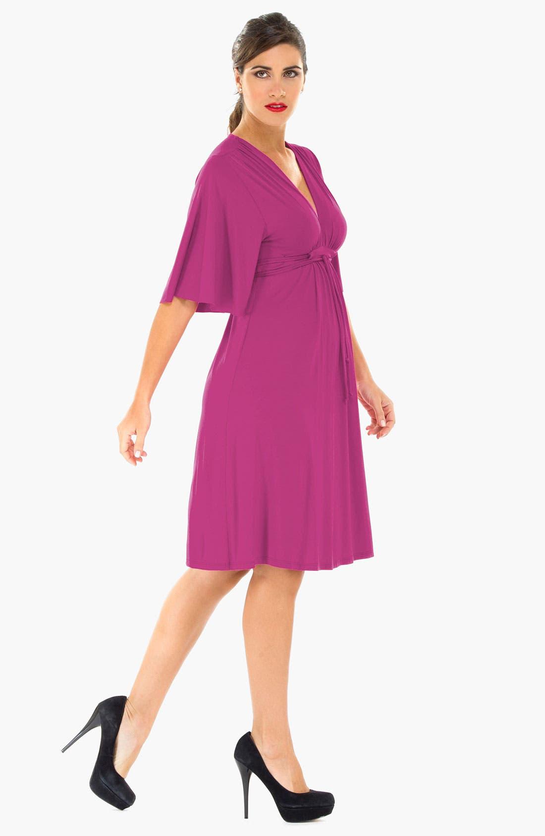 Alternate Image 3  - Olian Kimono Sleeve Maternity Dress