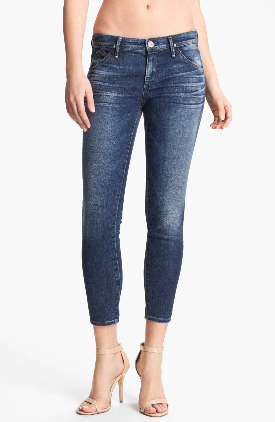 Alternate Image 1 Selected - Goldsign 'Gracie' Crop Skinny Stretch Jeans (Glam)