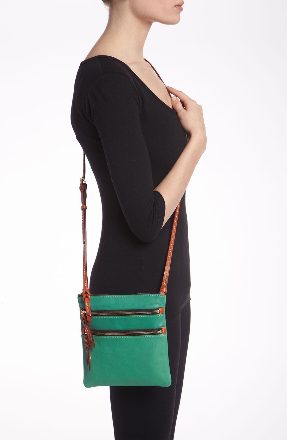 Alternate Image 2  - Dooney & Bourke Triple Zip Leather Crossbody Bag