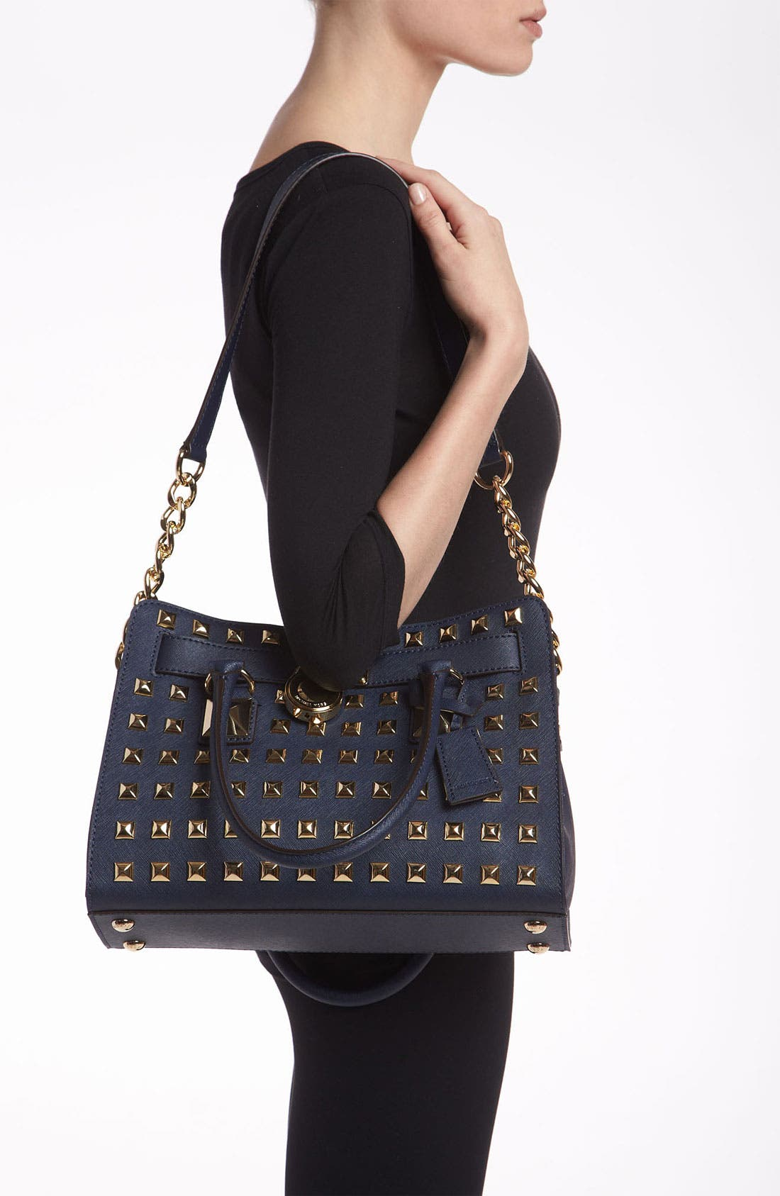 Alternate Image 2  - MICHAEL Michael Kors 'Hamilton' Studded Leather Satchel