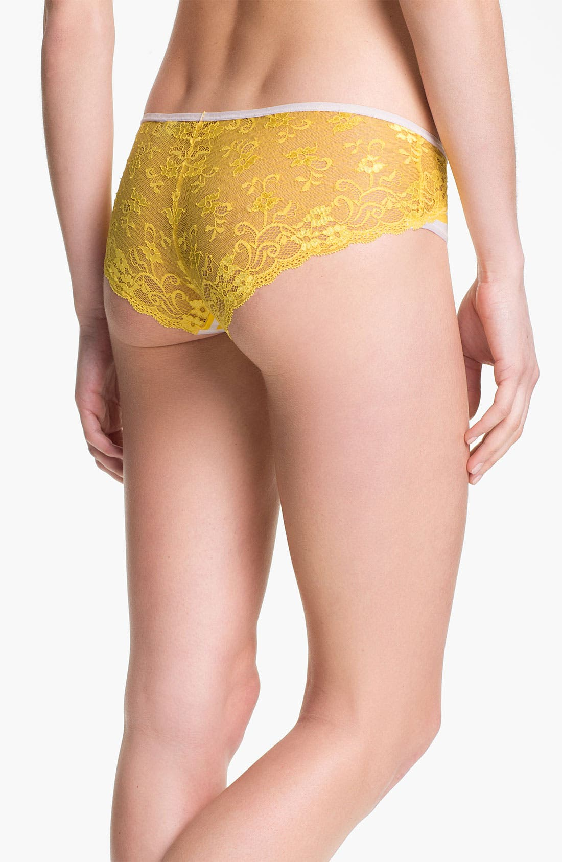 Alternate Image 2  - Felina 'Charming' Lace Back Hipster Briefs